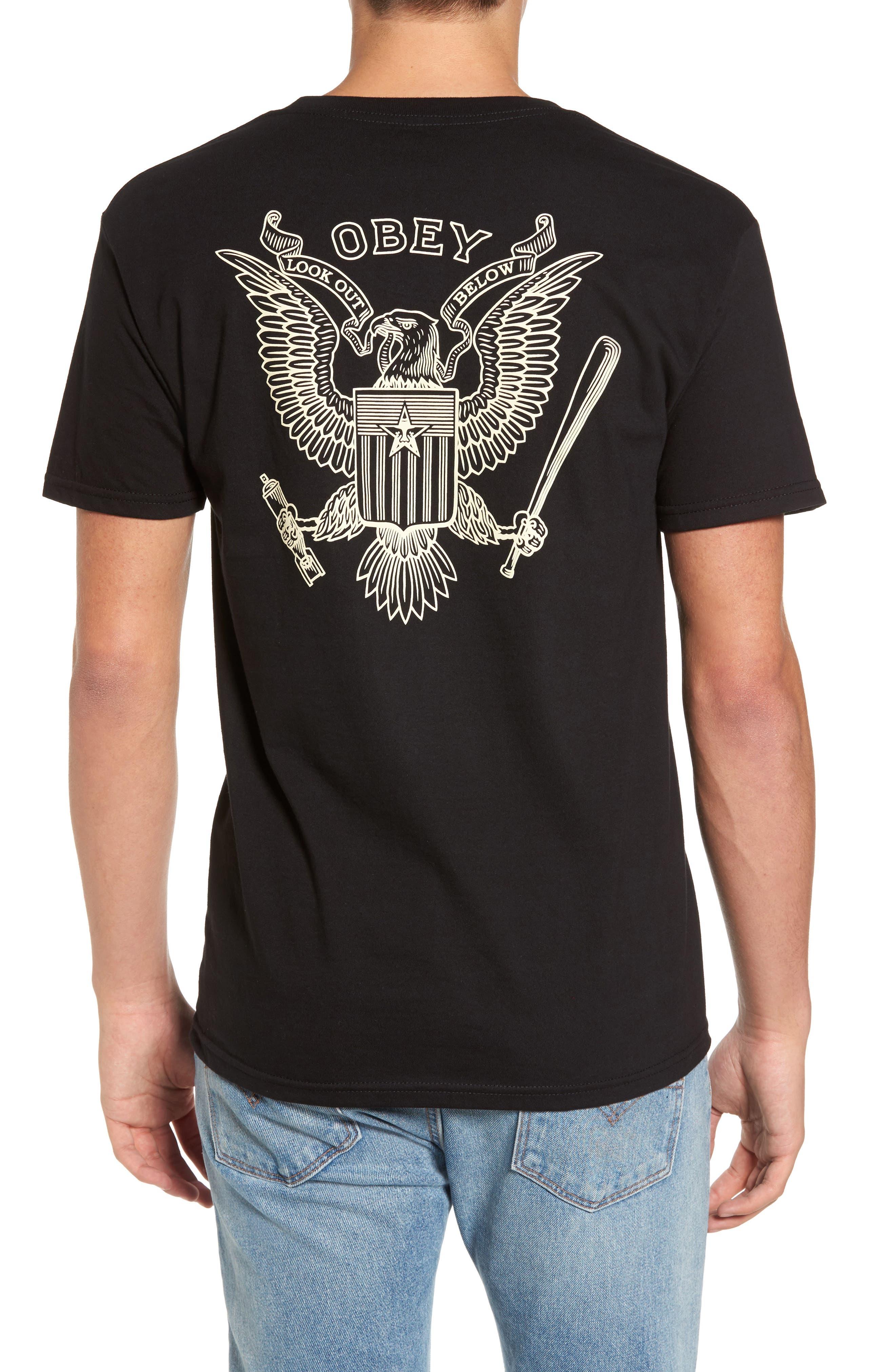 Look Out Below Premium Graphic T-Shirt,                             Alternate thumbnail 2, color,                             Black