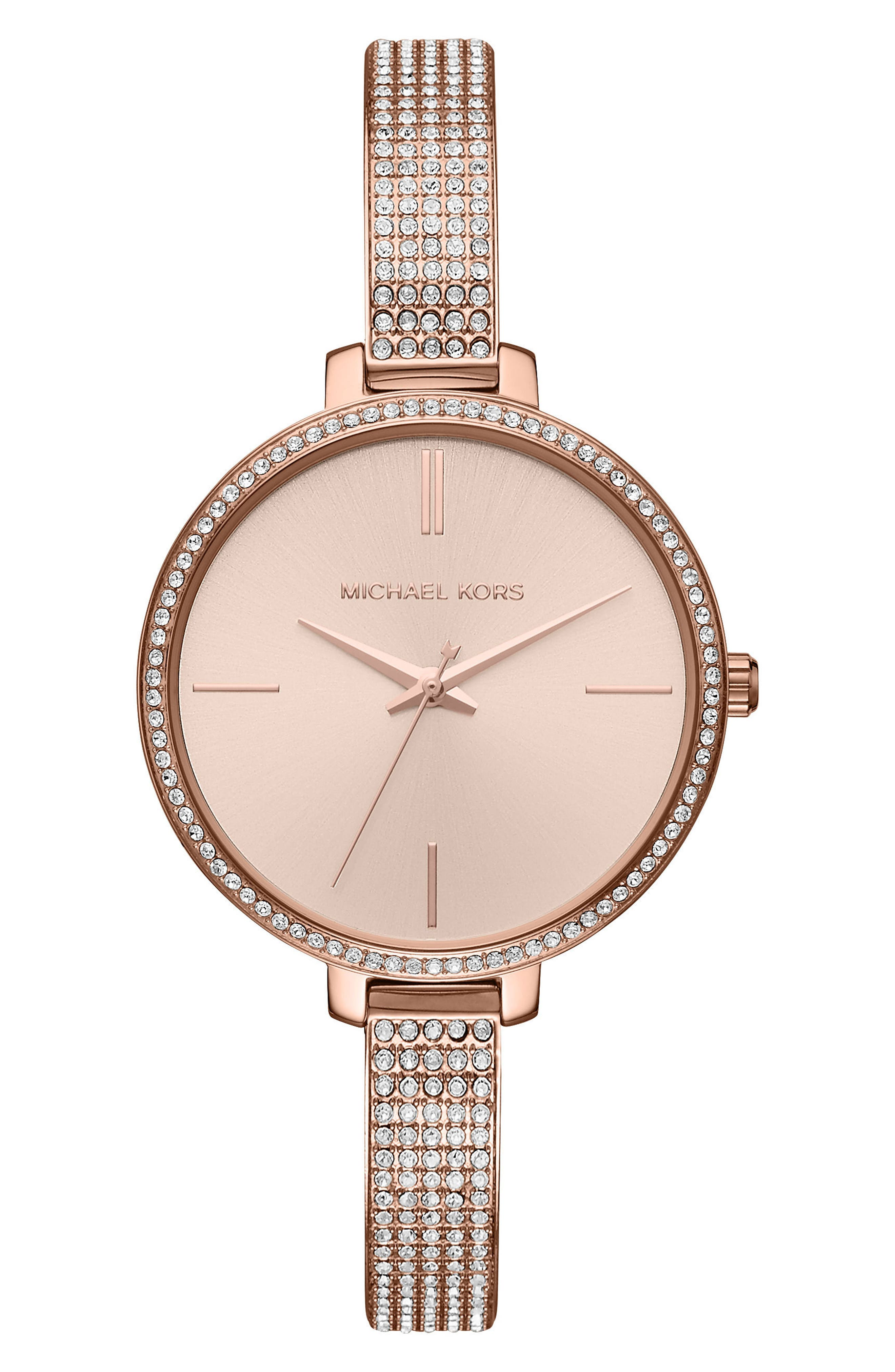 Jaryn Pavé Bangle Watch, 36mm,                             Main thumbnail 1, color,                             Rose Gold
