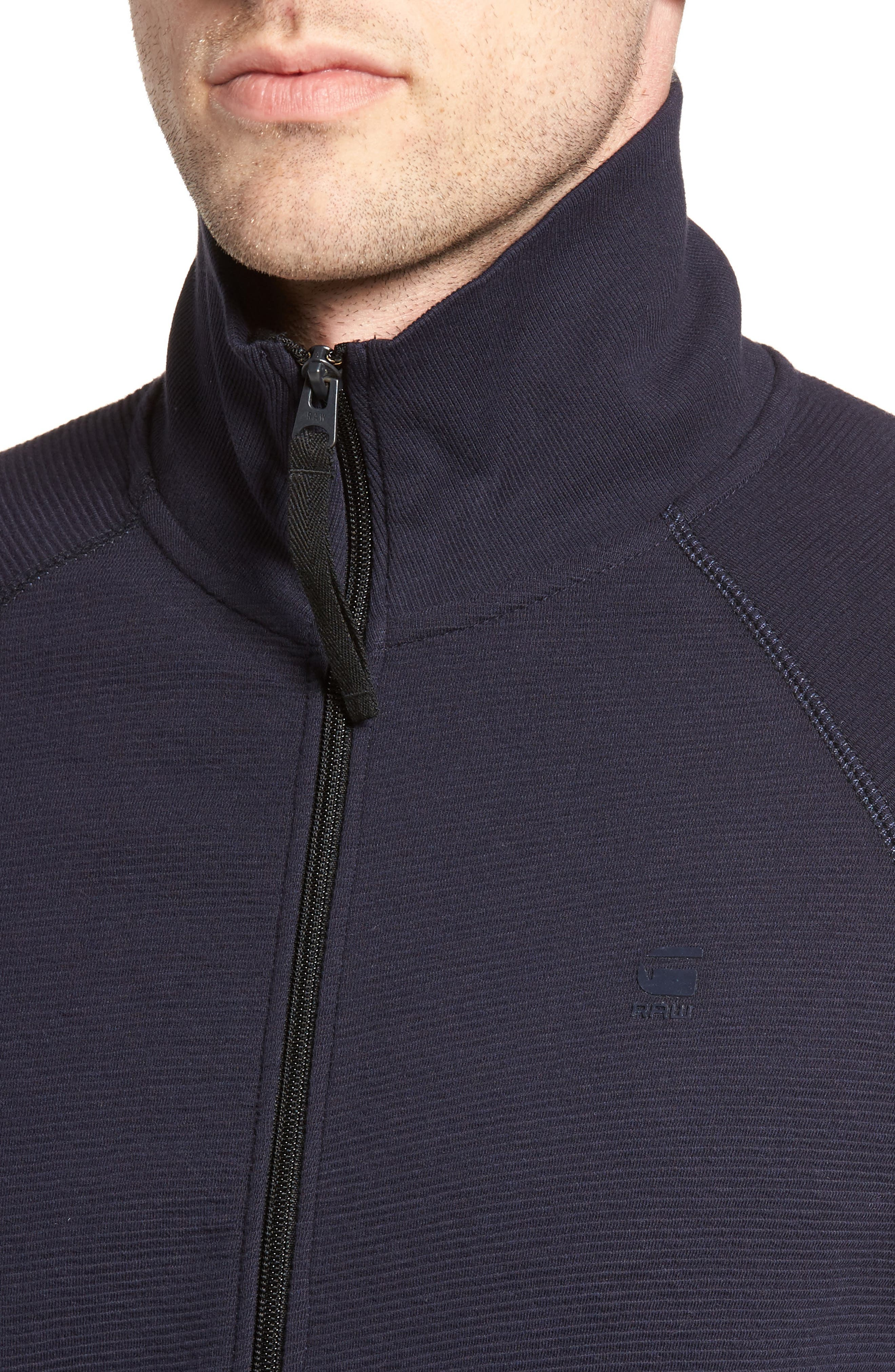 Jirgi Zip Front Jacket,                             Alternate thumbnail 4, color,                             Dark Naval Blue