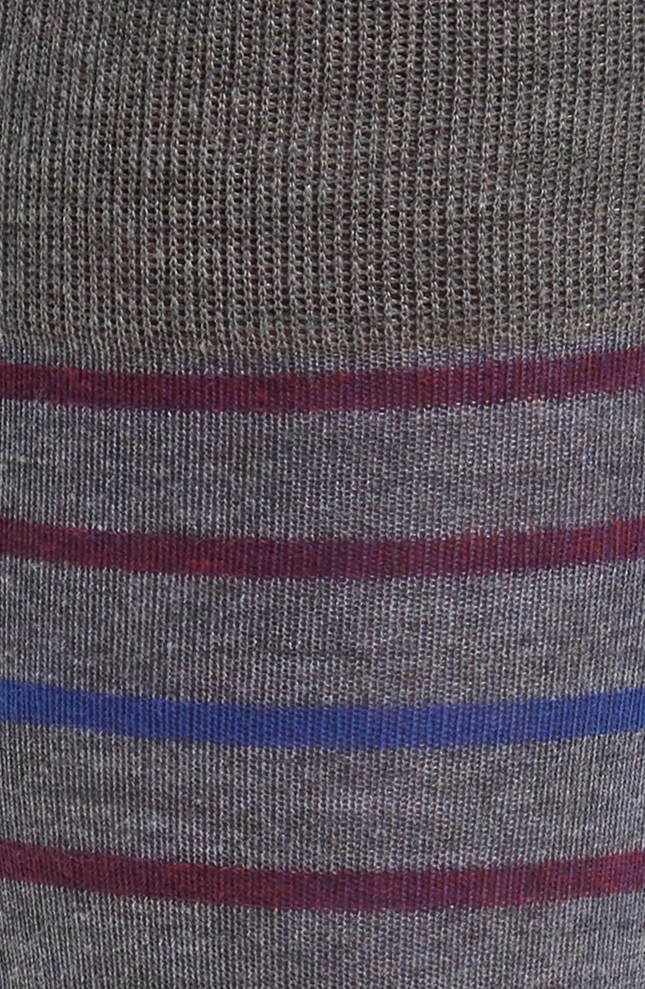 Stripe Socks,                             Alternate thumbnail 2, color,                             Blue Surf