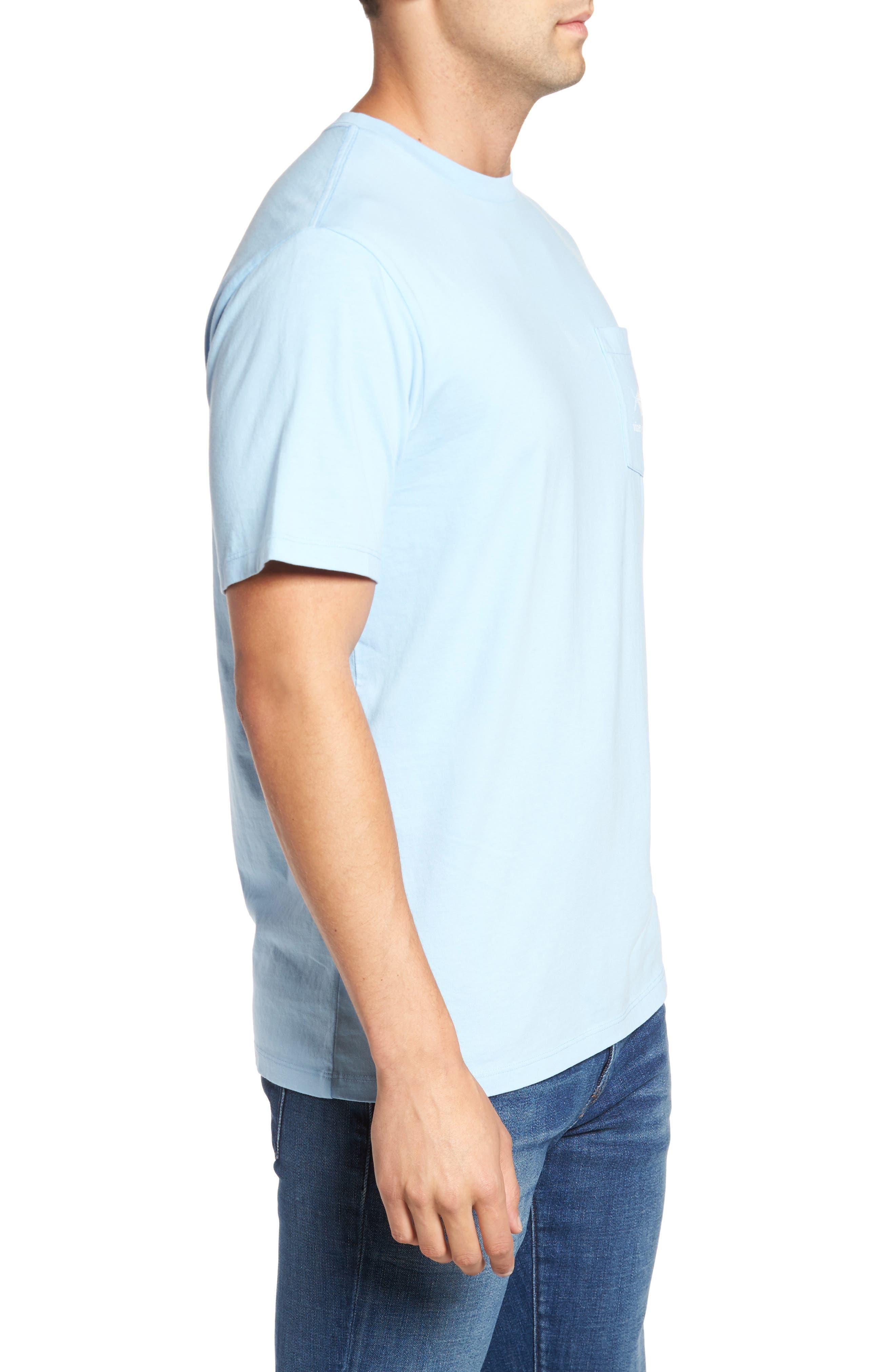 Painted Permit Graphic Pocket T-Shirt,                             Alternate thumbnail 3, color,                             Jake Blue