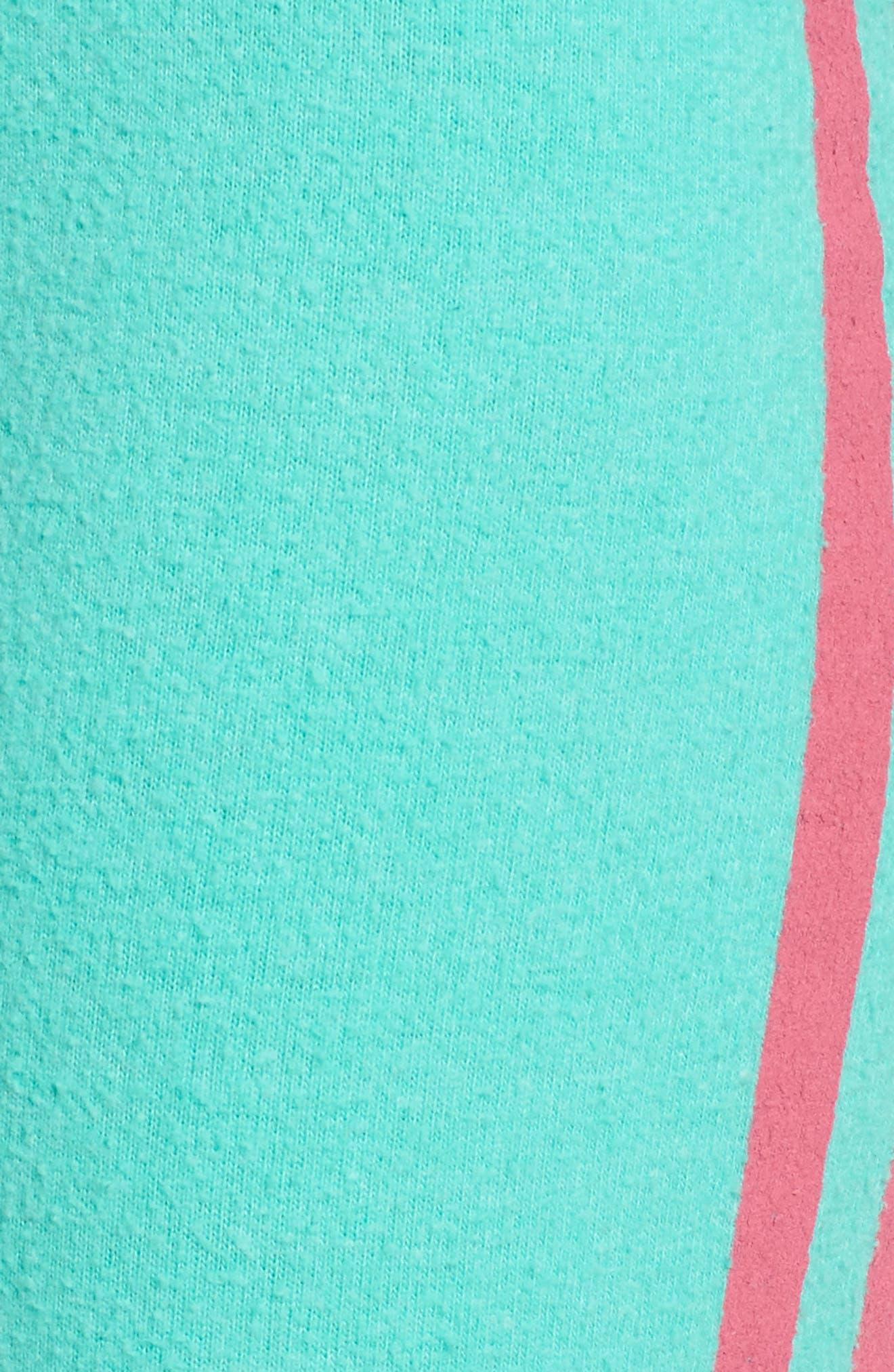 Sporty Stripe Track Pants,                             Alternate thumbnail 5, color,                             Mint Chip