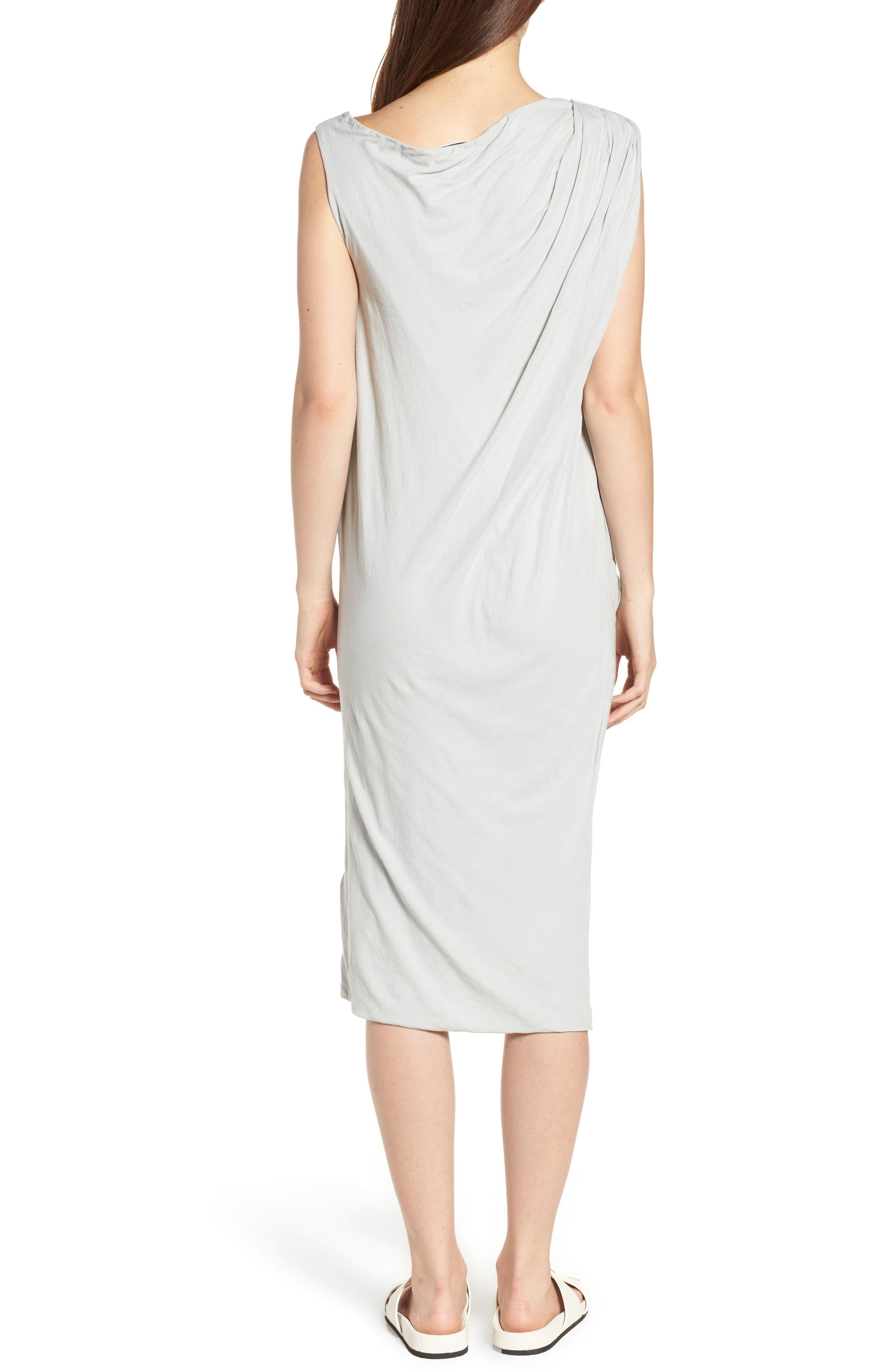 Alternate Image 2  - James Perse Draped One-Shoulder Midi Dress