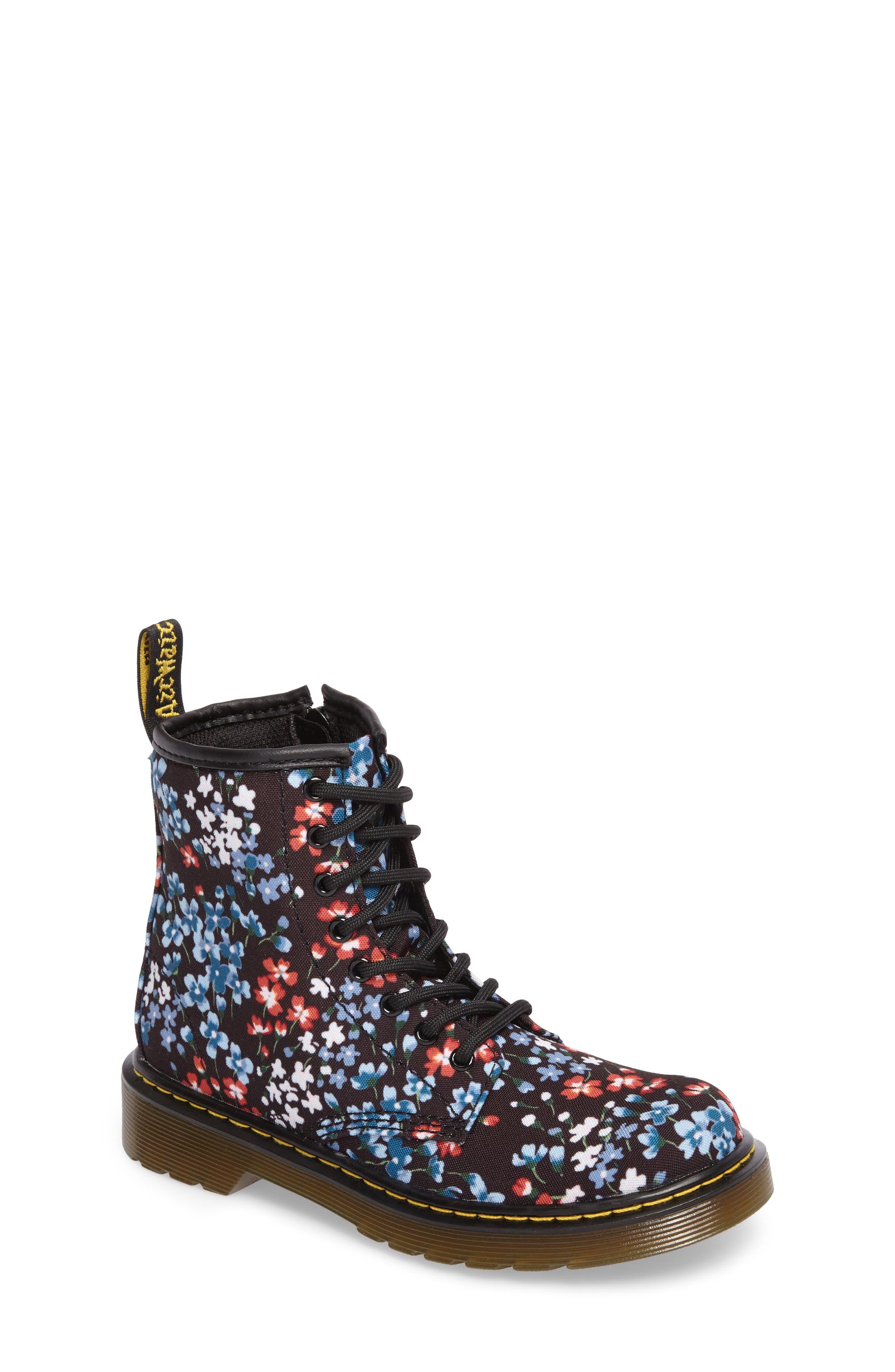 Dr. Martens Delaney Floral Boot (Toddler, Little Kid & Big Kid)