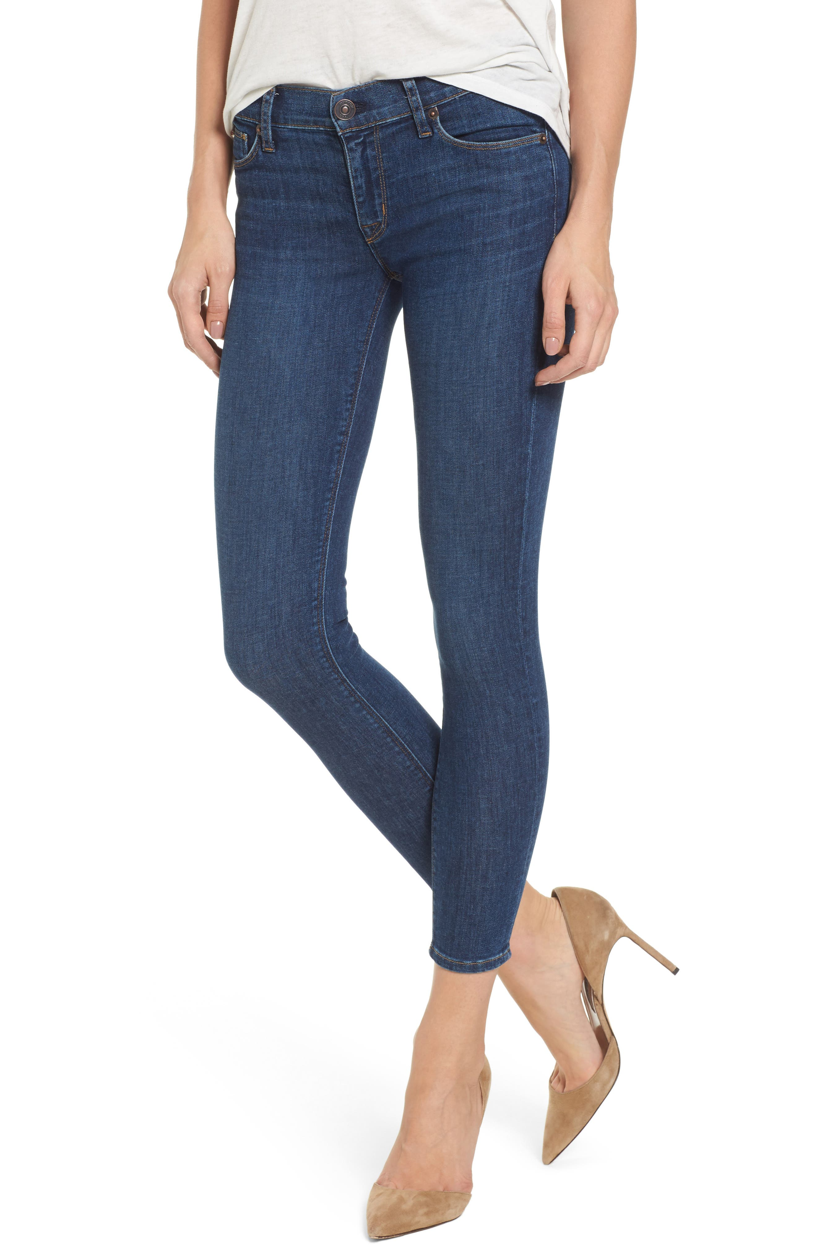 Main Image - Hudson Jeans Krista Ankle Super Skinny Jeans (Infinity)