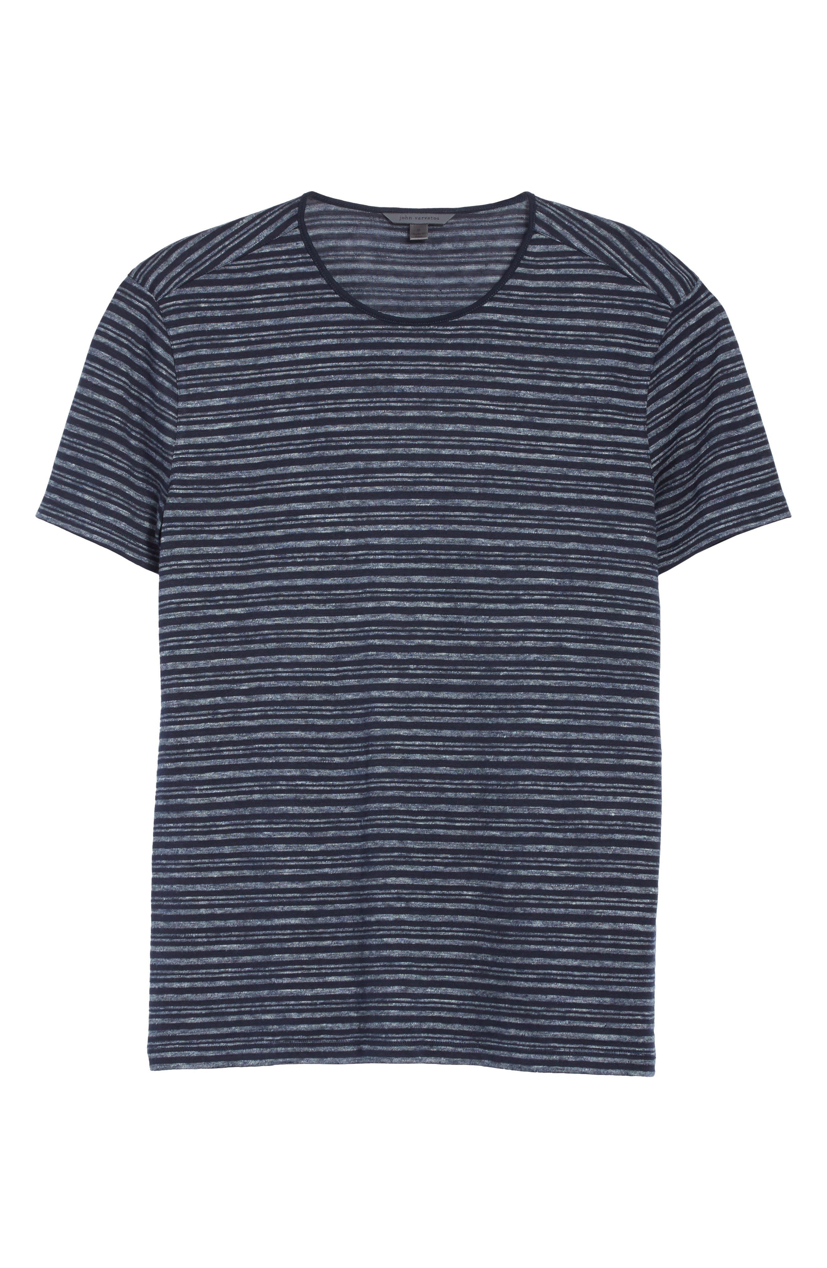 Stripe T-Shirt,                             Alternate thumbnail 6, color,                             Eclipse