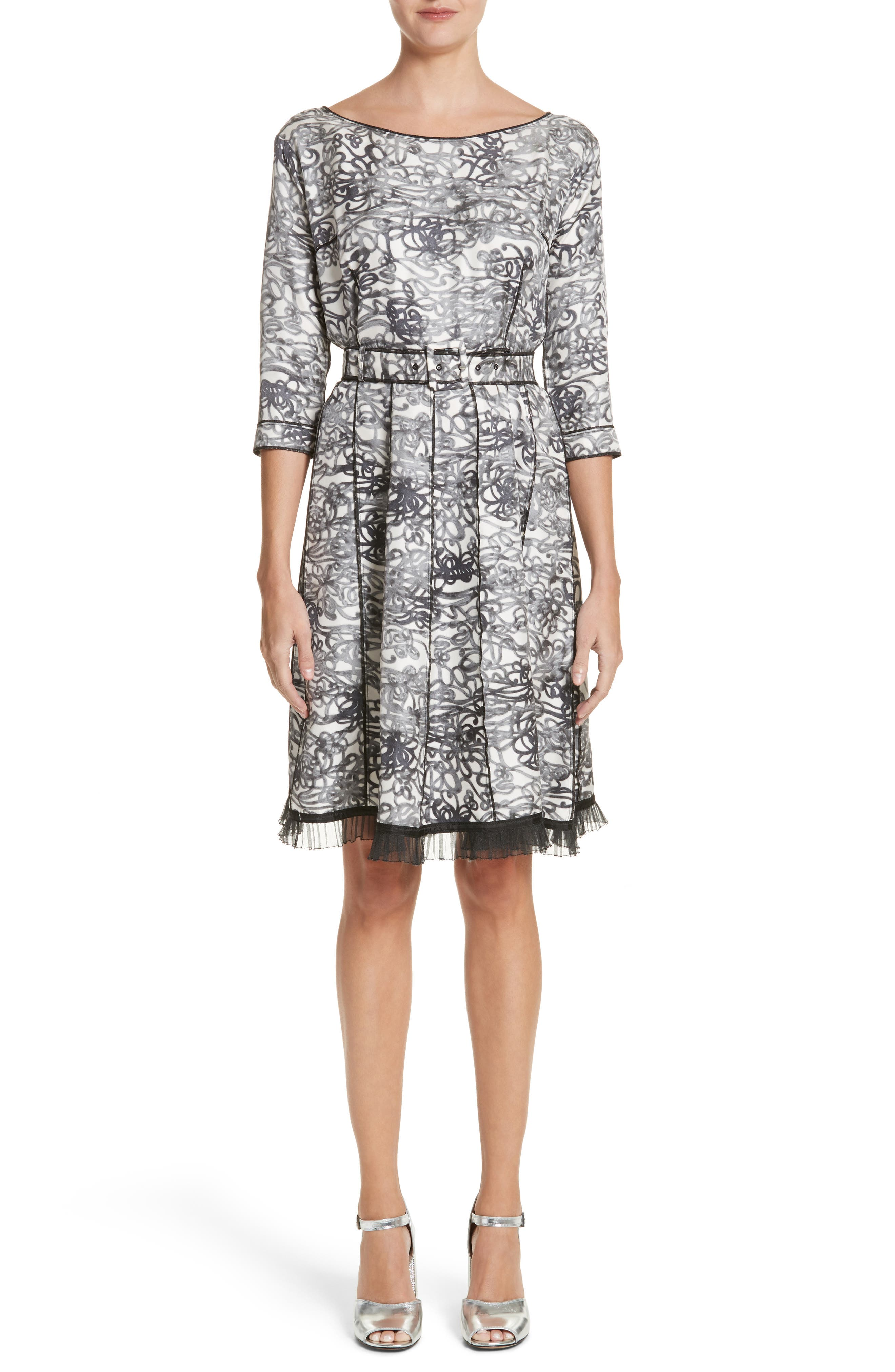 MARC JACOBS Squiggle Print Gored Dress