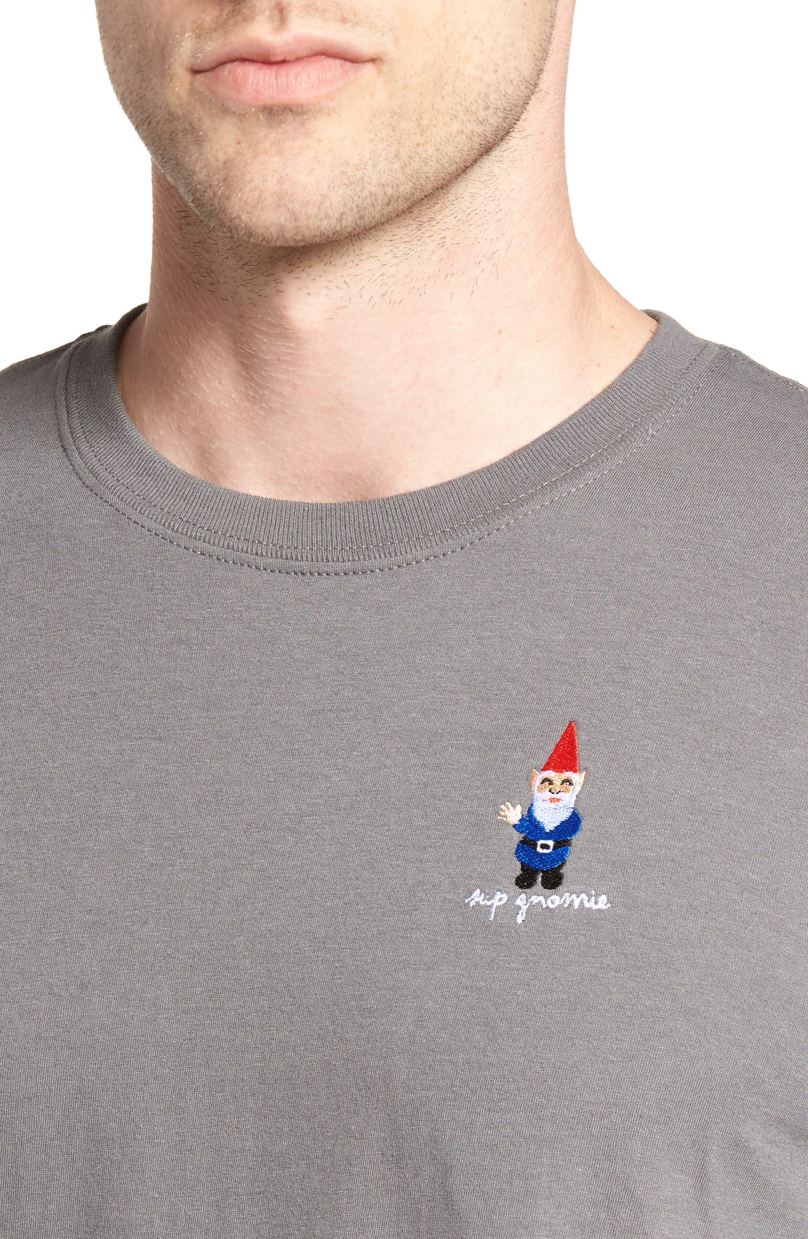 Gnome T-Shirt,                             Alternate thumbnail 4, color,                             Grey Gnome