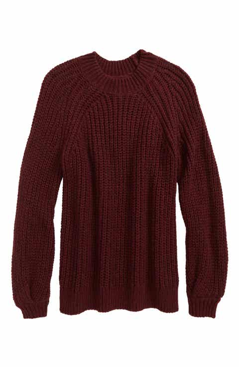 Girls' Red Sweaters: Cardigan, Knit & Crewneck | Nordstrom