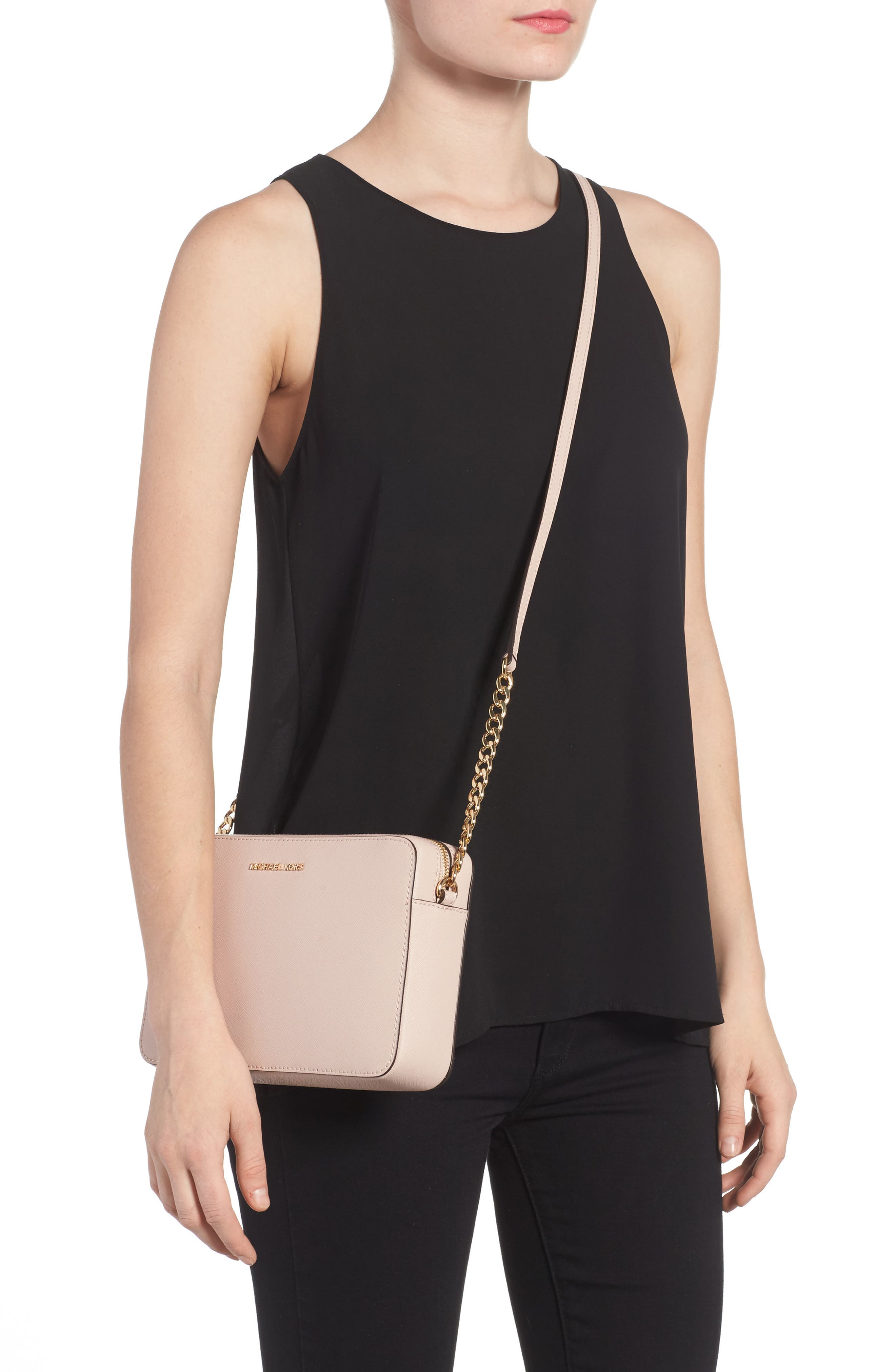 Alternate Image 2  - MICHAEL Michael Kors 'Large Jet Set' East/West Saffiano Crossbody Bag