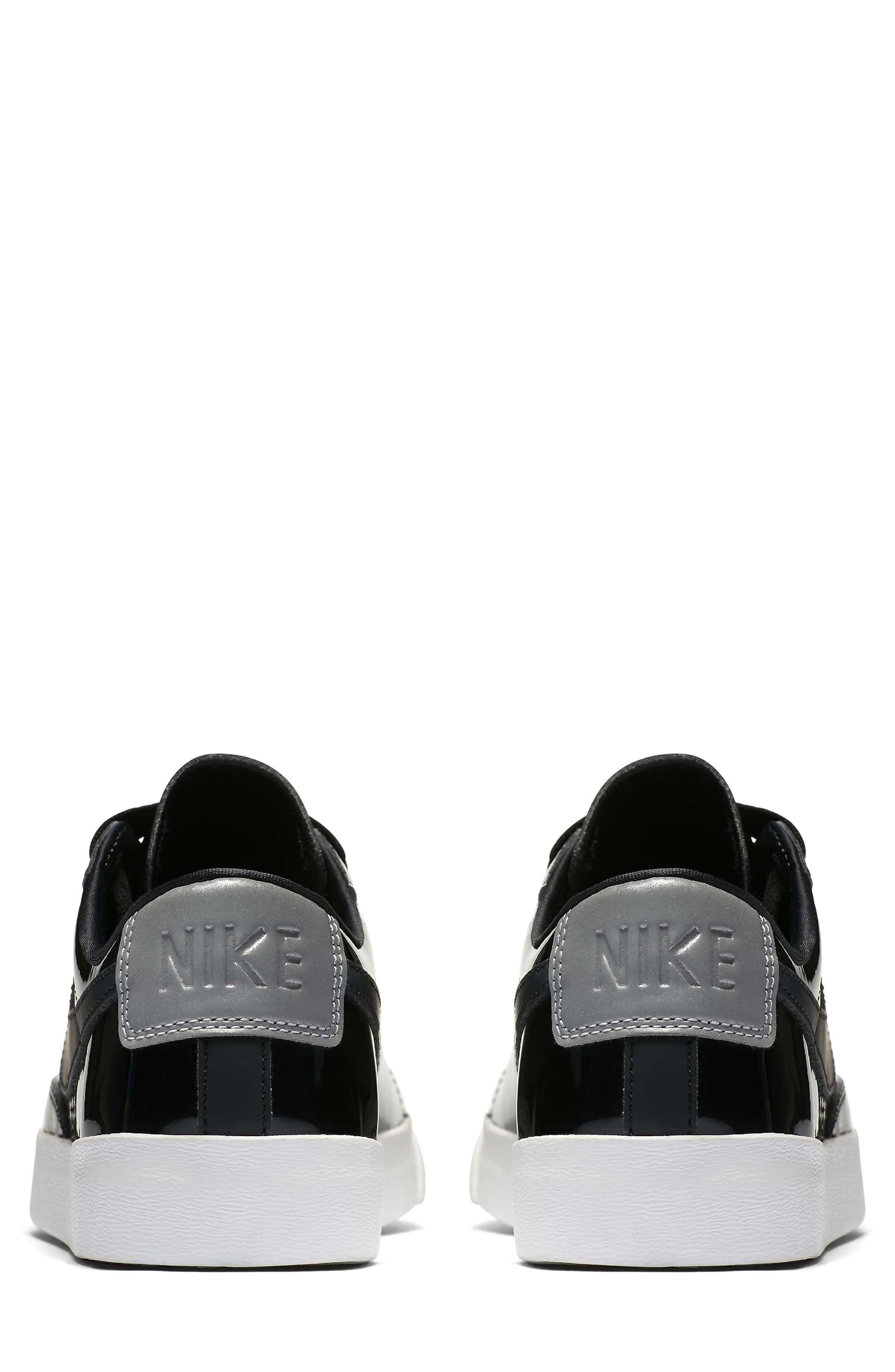 Blazer Low Top Sneaker SE,                             Alternate thumbnail 4, color,                             Black/ Black Reflect Silver