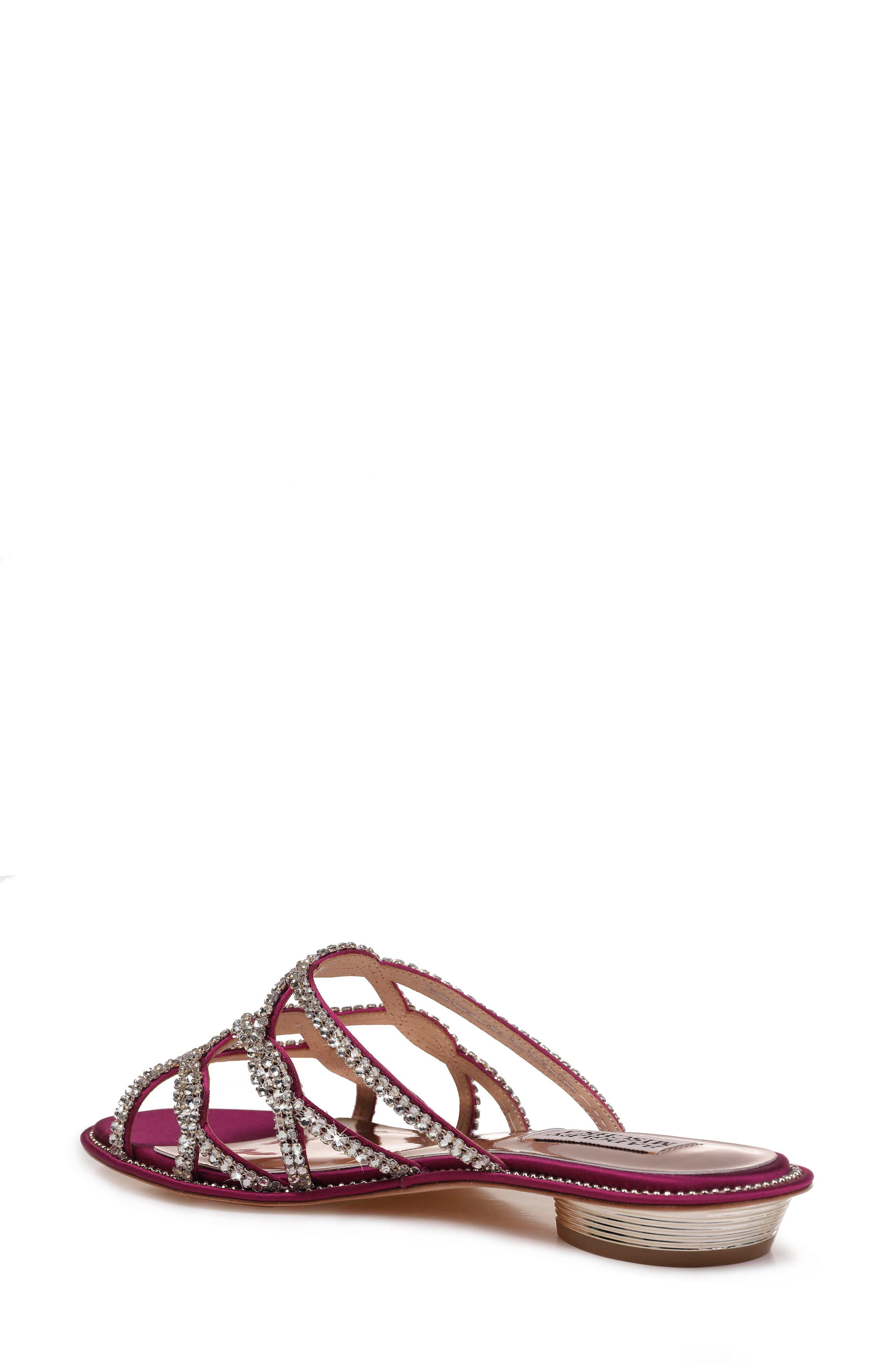 Sofie Strappy Sandal,                             Alternate thumbnail 2, color,                             Mulberry Satin