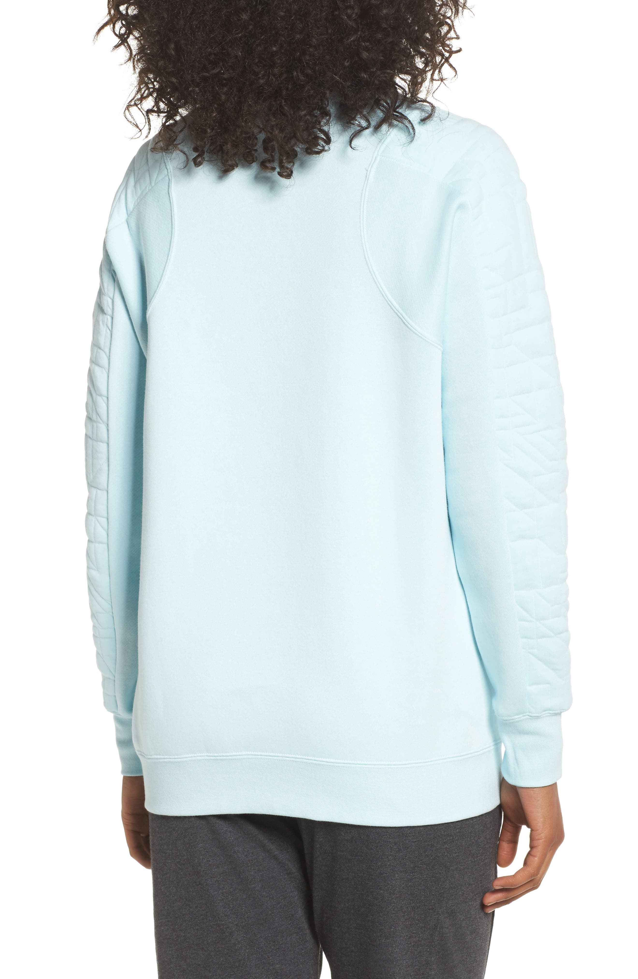 Sportswear Quilted Funnel Neck Pullover,                             Alternate thumbnail 2, color,                             Glacier Blue/ Glacier Grey