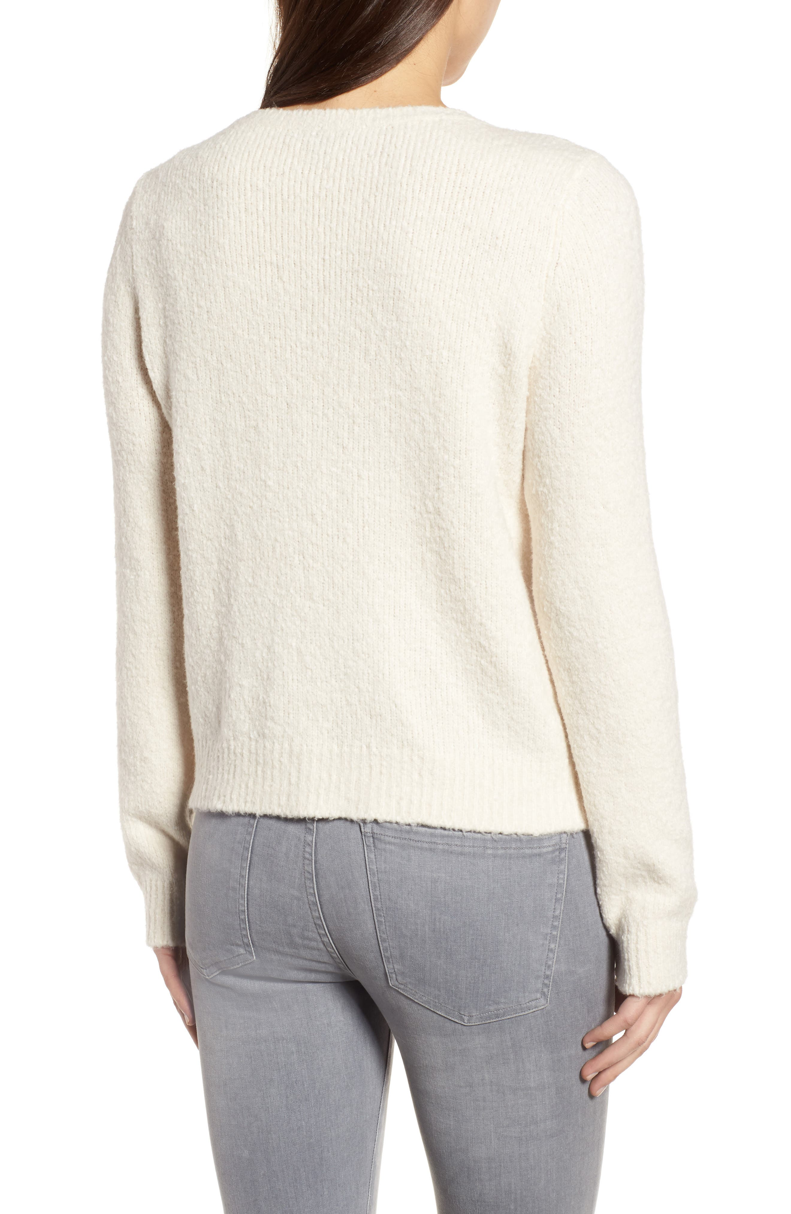 Organic Cotton Blend Sweater,                             Alternate thumbnail 2, color,                             Soft White