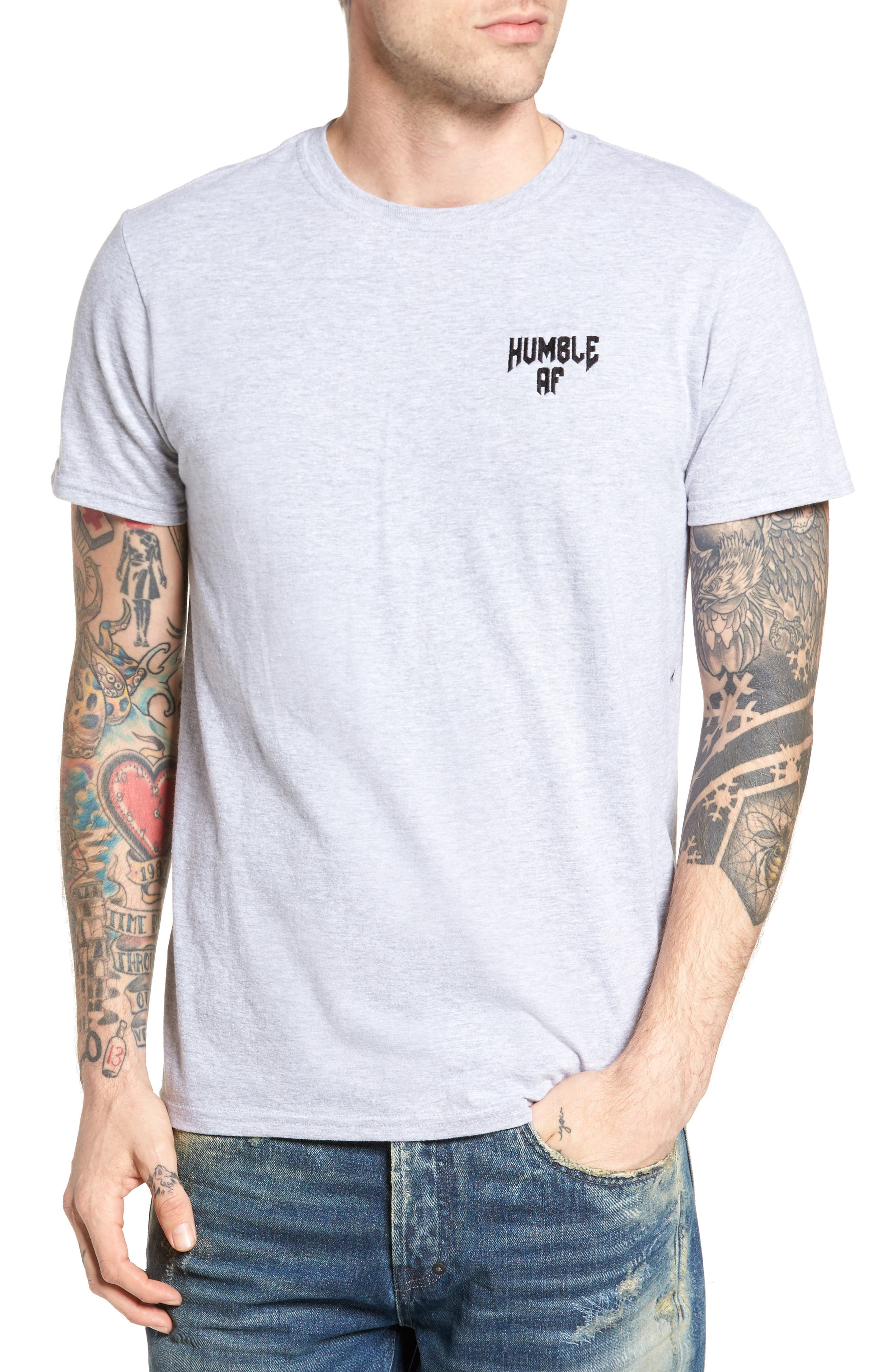 Humble AF T-Shirt,                         Main,                         color, Grey Heather Humble