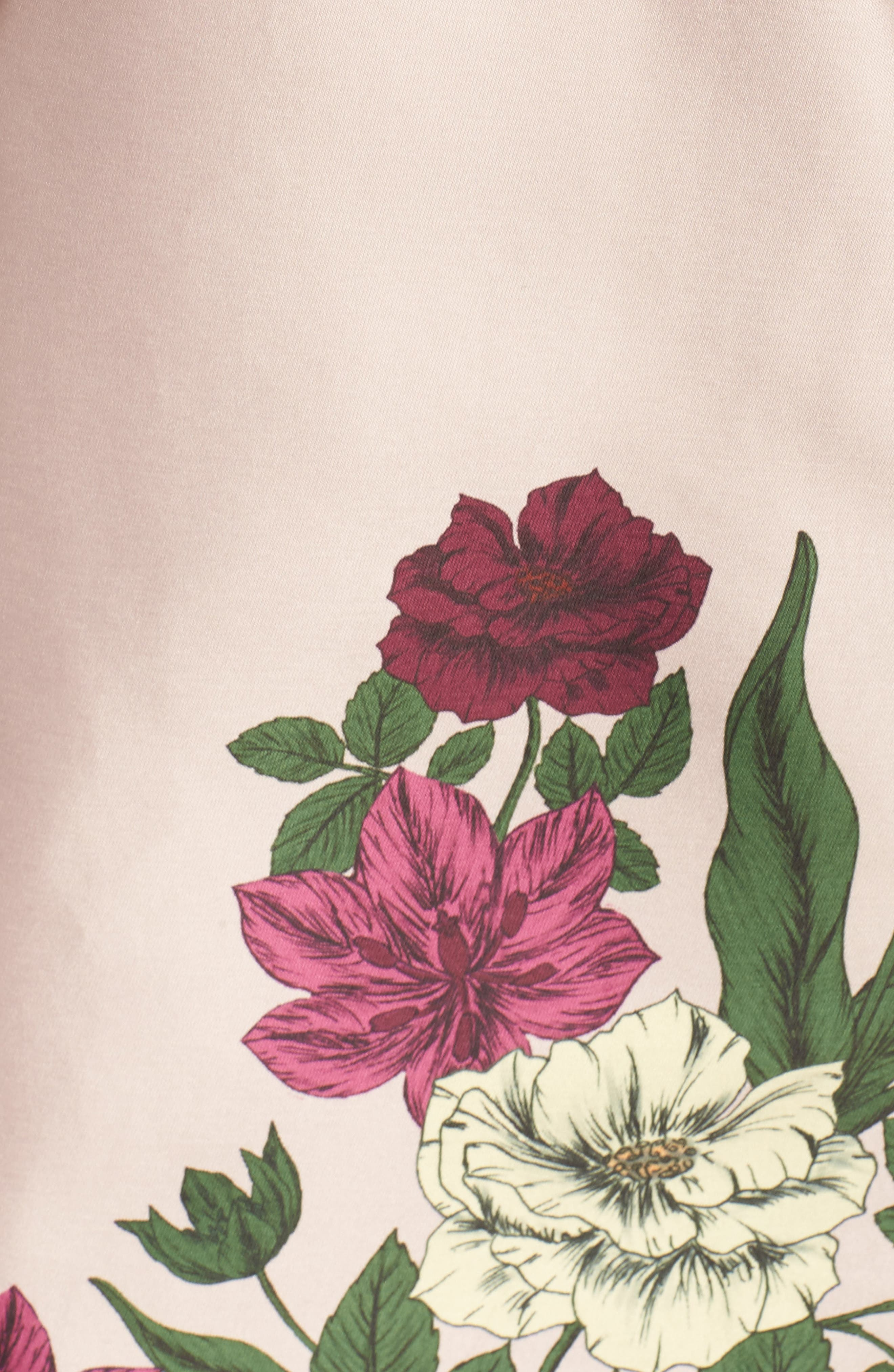 Night Lights Off the Shoulder Minidress,                             Alternate thumbnail 5, color,                             Blush Floral