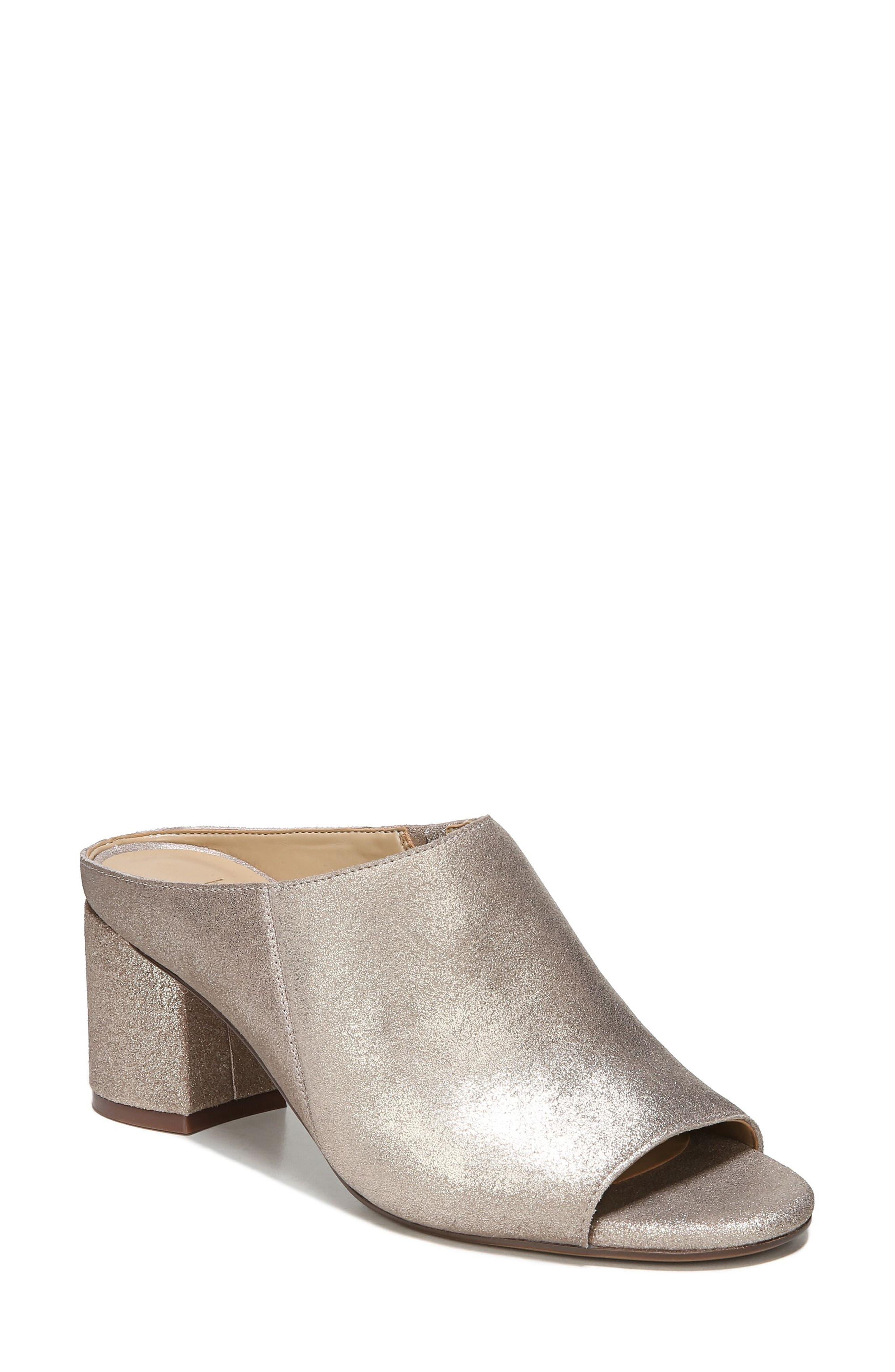 Cyprine Slide Sandal,                         Main,                         color, Champagne Suede