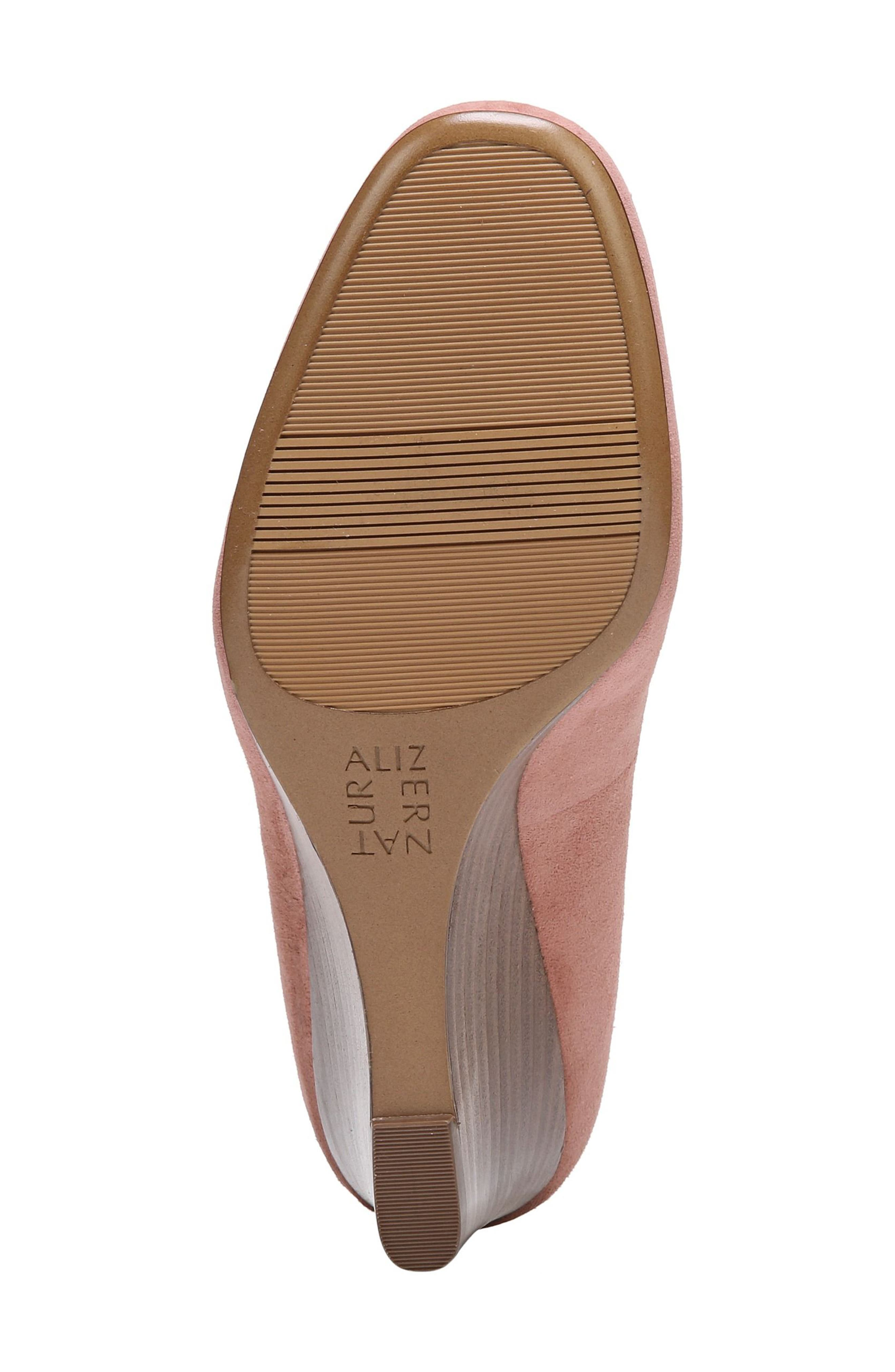 Emily Wedge Pump,                             Alternate thumbnail 8, color,                             Peony Pink Suede