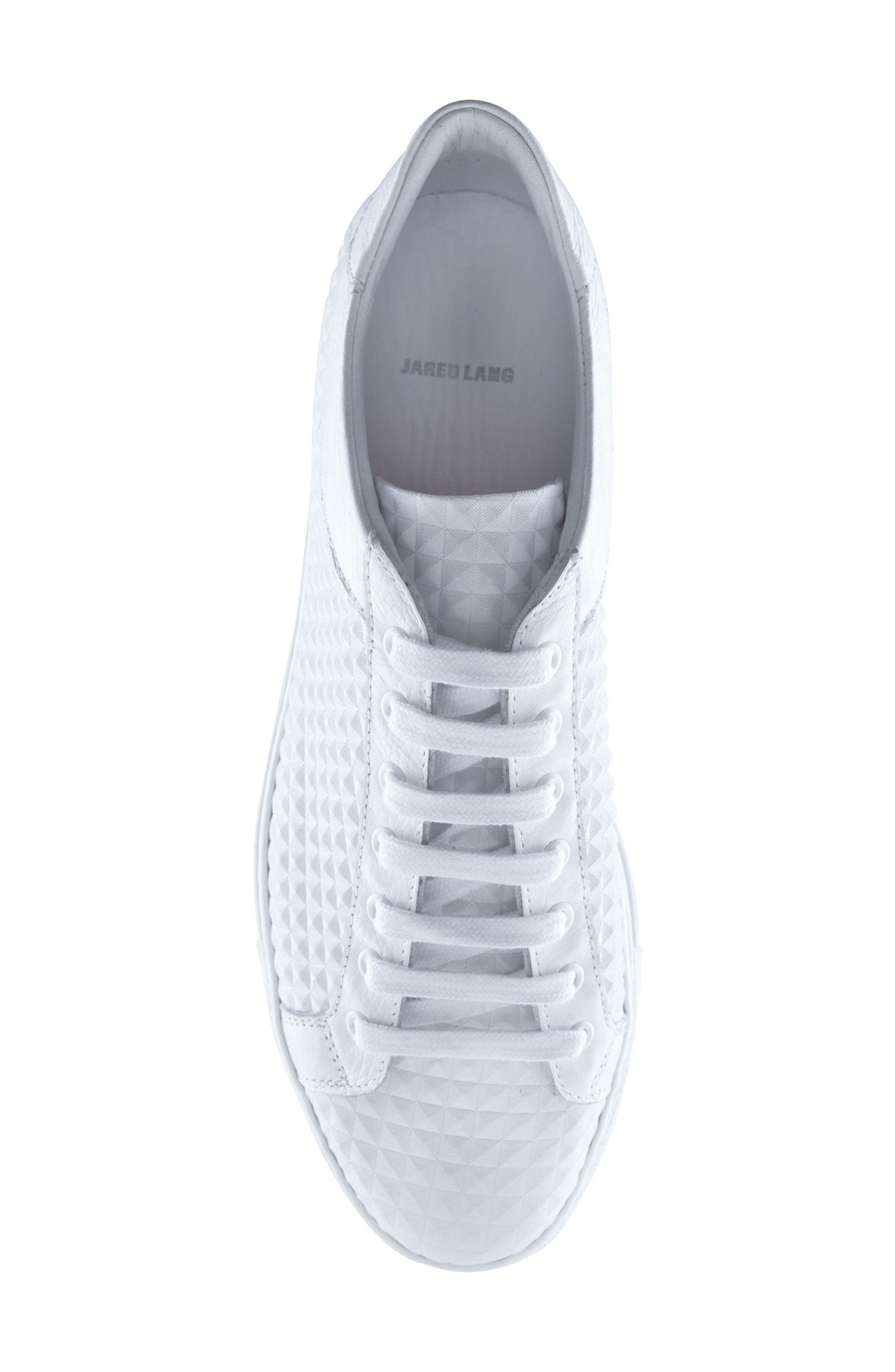 Scott Leather Sneaker,                             Alternate thumbnail 5, color,                             White
