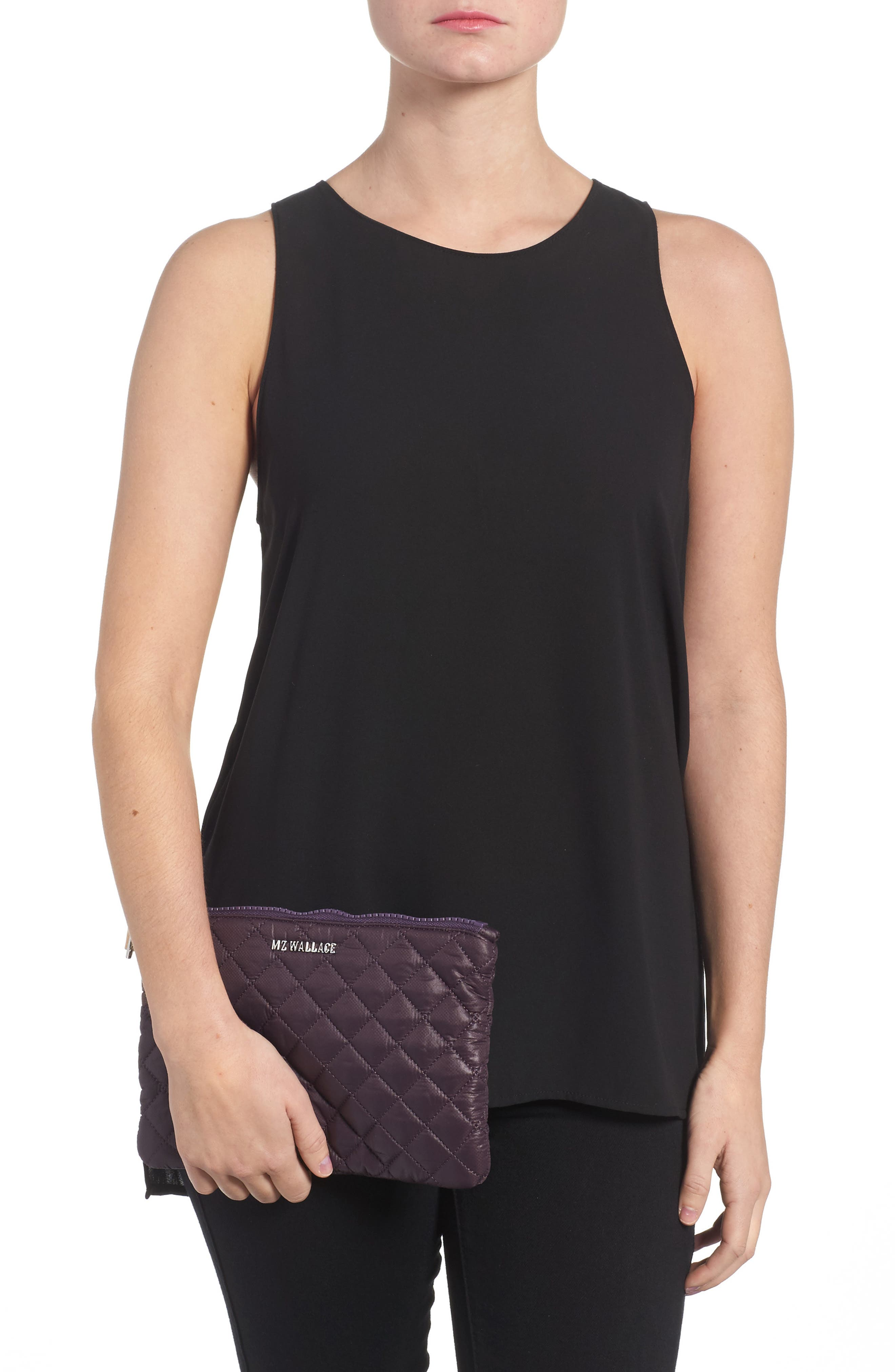Alternate Image 2  - MZ Wallace Small Metro Quilted Oxford Nylon Zip Pouch