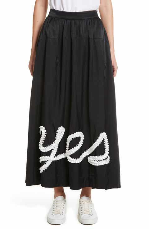 Tu es mon TRÉSOR Yes Ribbon Maxi Skirt