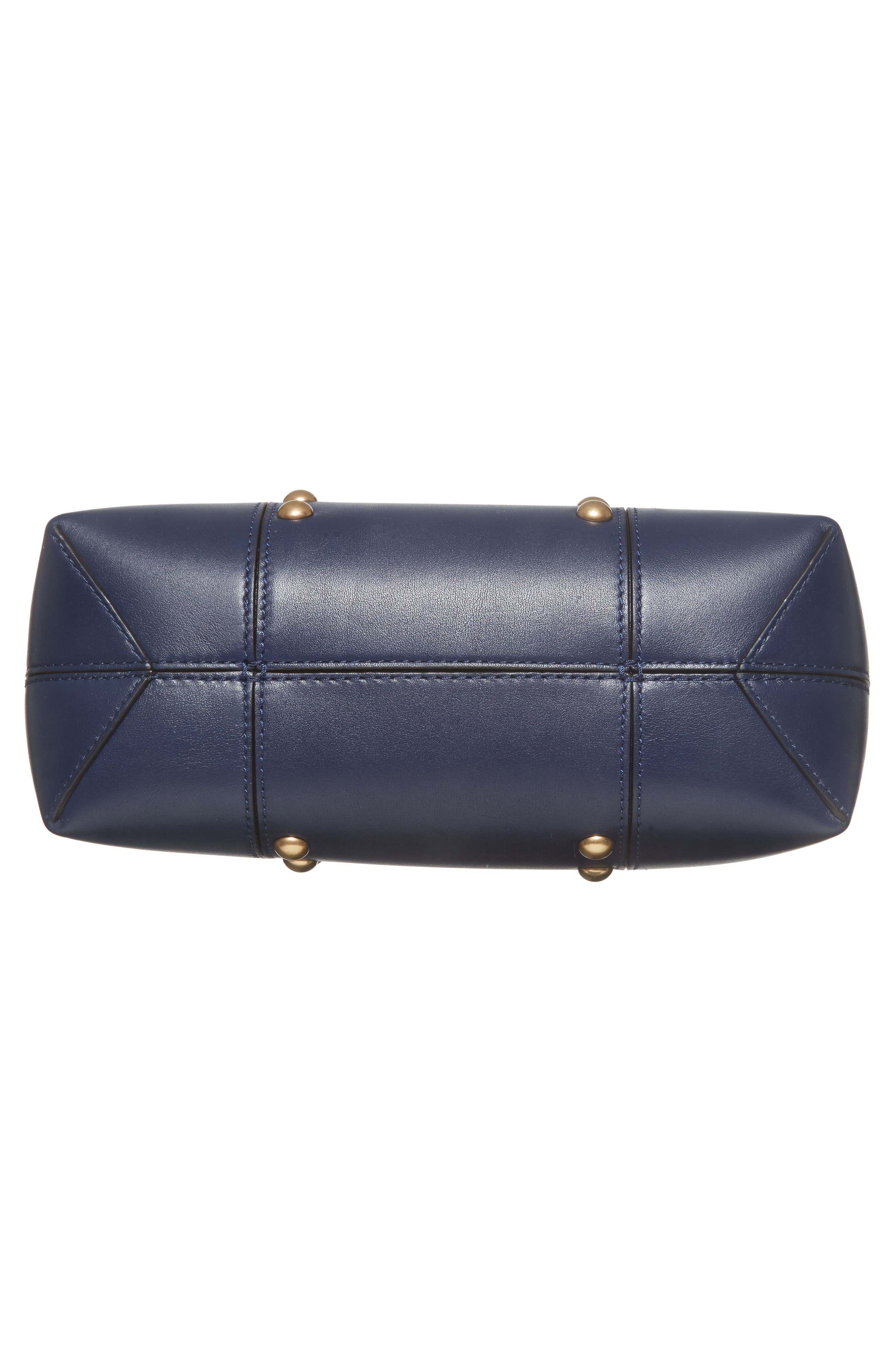 Block-T Mini Studded Leather Tote,                             Alternate thumbnail 6, color,                             Royal Navy