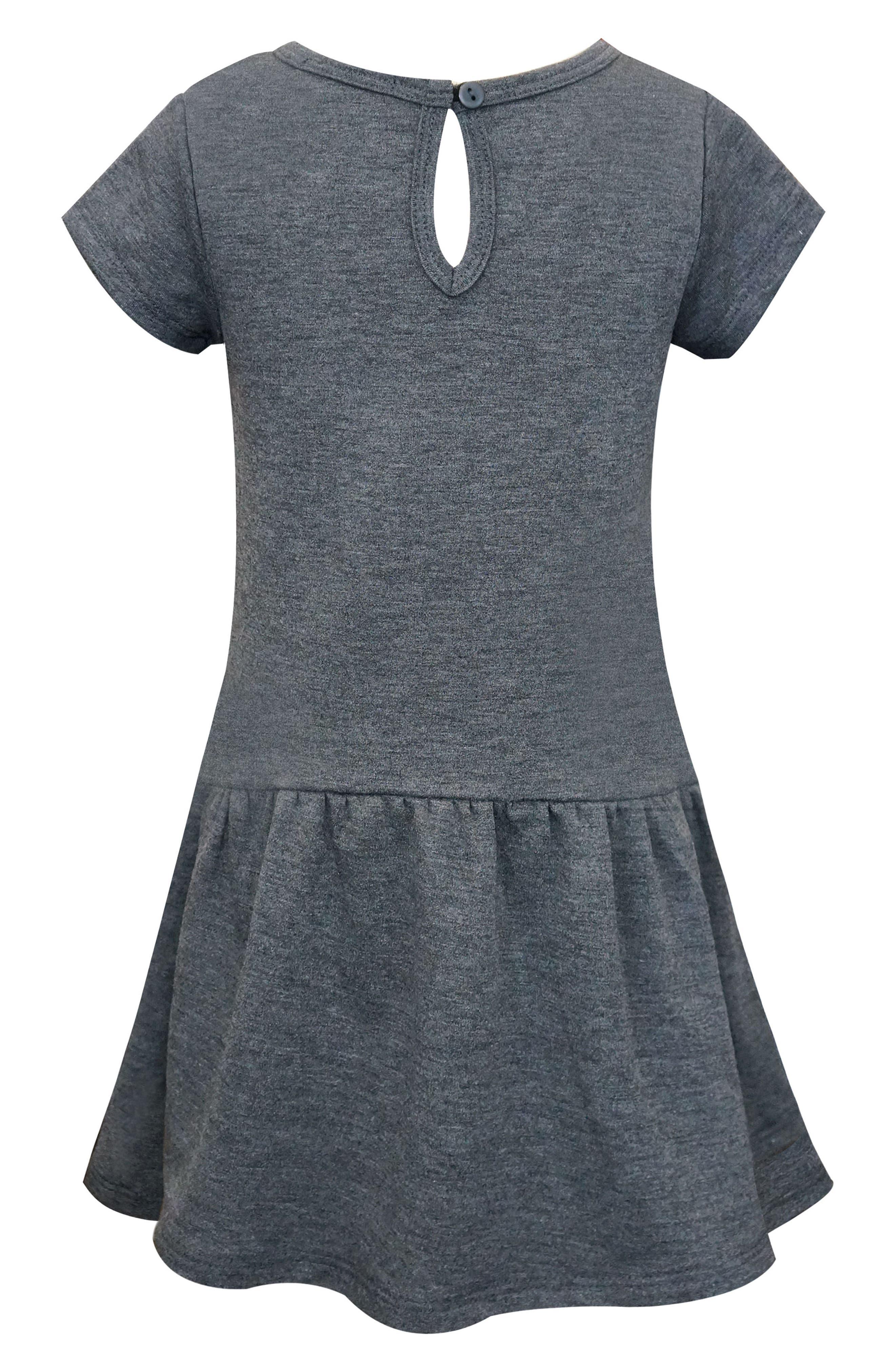 Dimensional Graphic Dress,                             Alternate thumbnail 3, color,                             Dark Grey