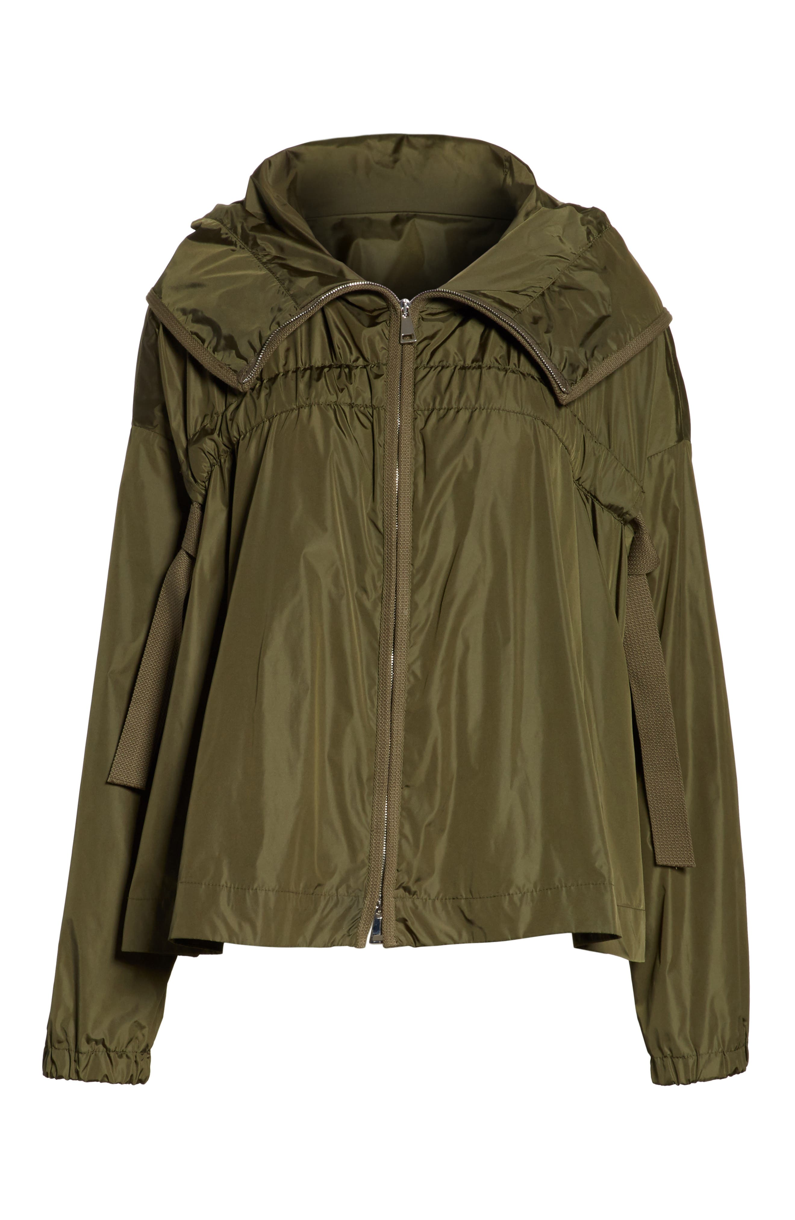 Lune Water Resistant Swing Jacket,                             Alternate thumbnail 8, color,                             Olive