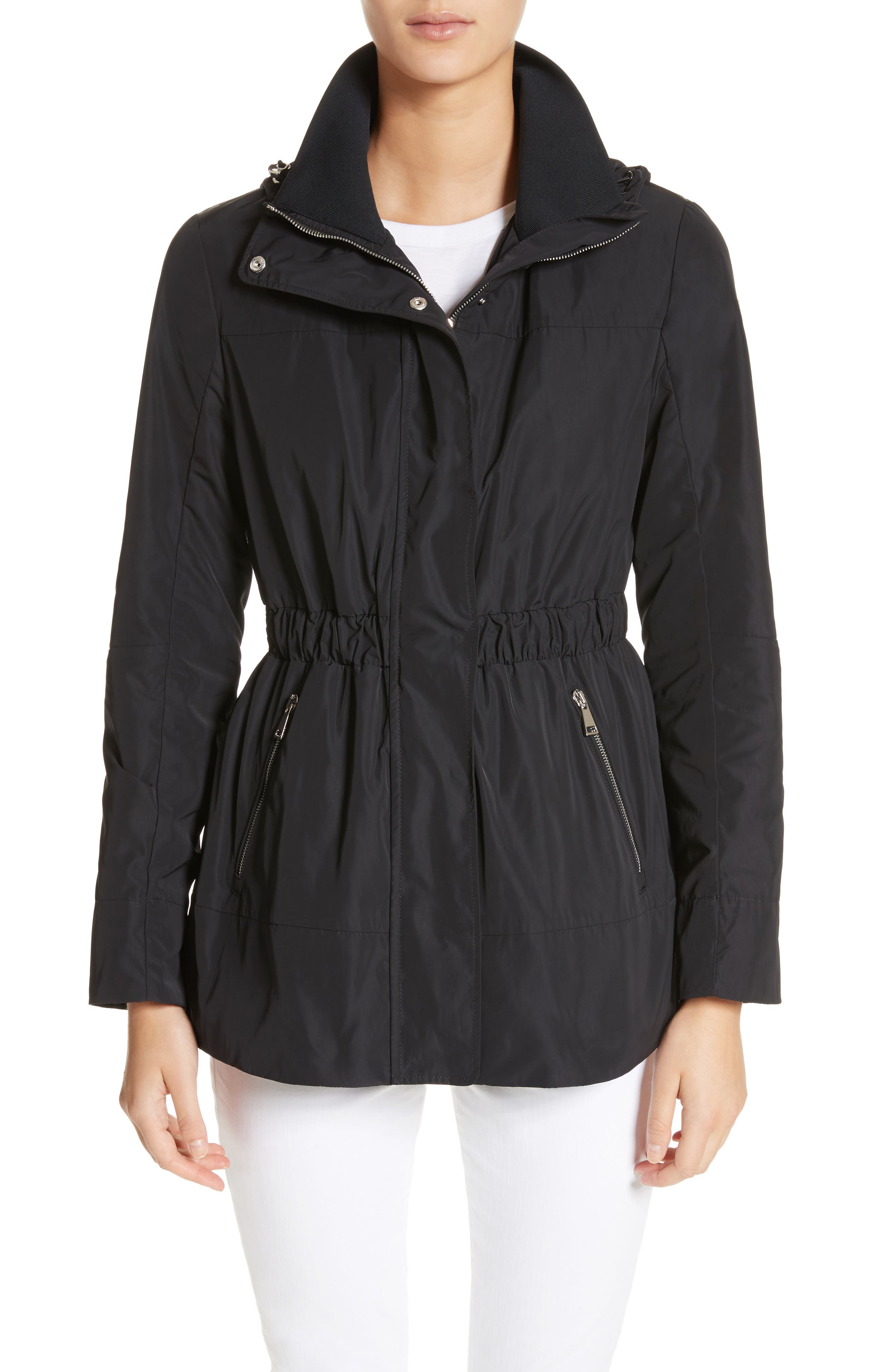 Disthene Water Resistant Hooded Jacket,                             Main thumbnail 1, color,                             Black