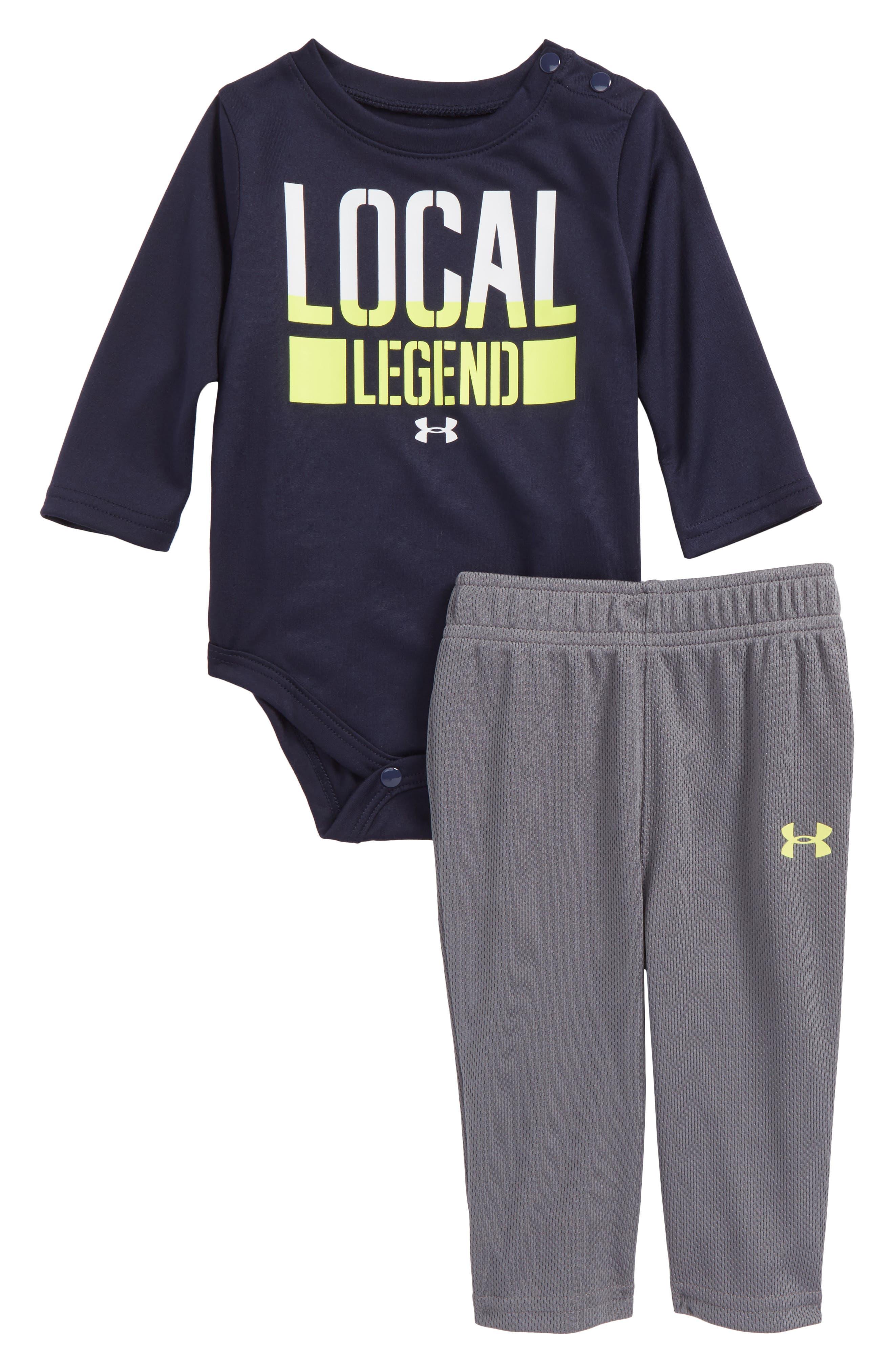 Under Armour Local Legend Bodysuit & Pants Set (Baby Boys)