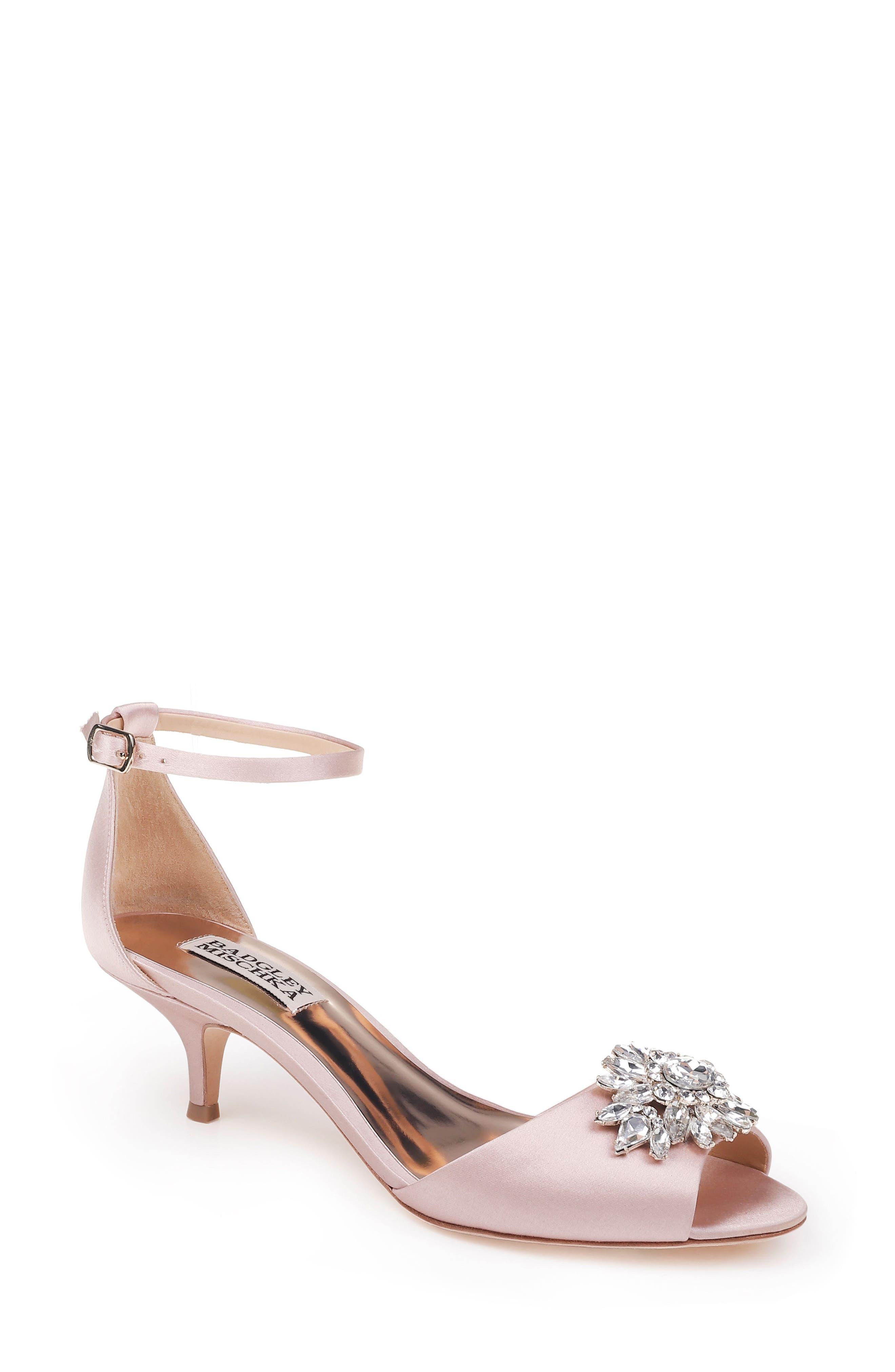 Alternate Image 1 Selected - Badgley Mischka Sainte Crystal Embellished Sandal (Women)