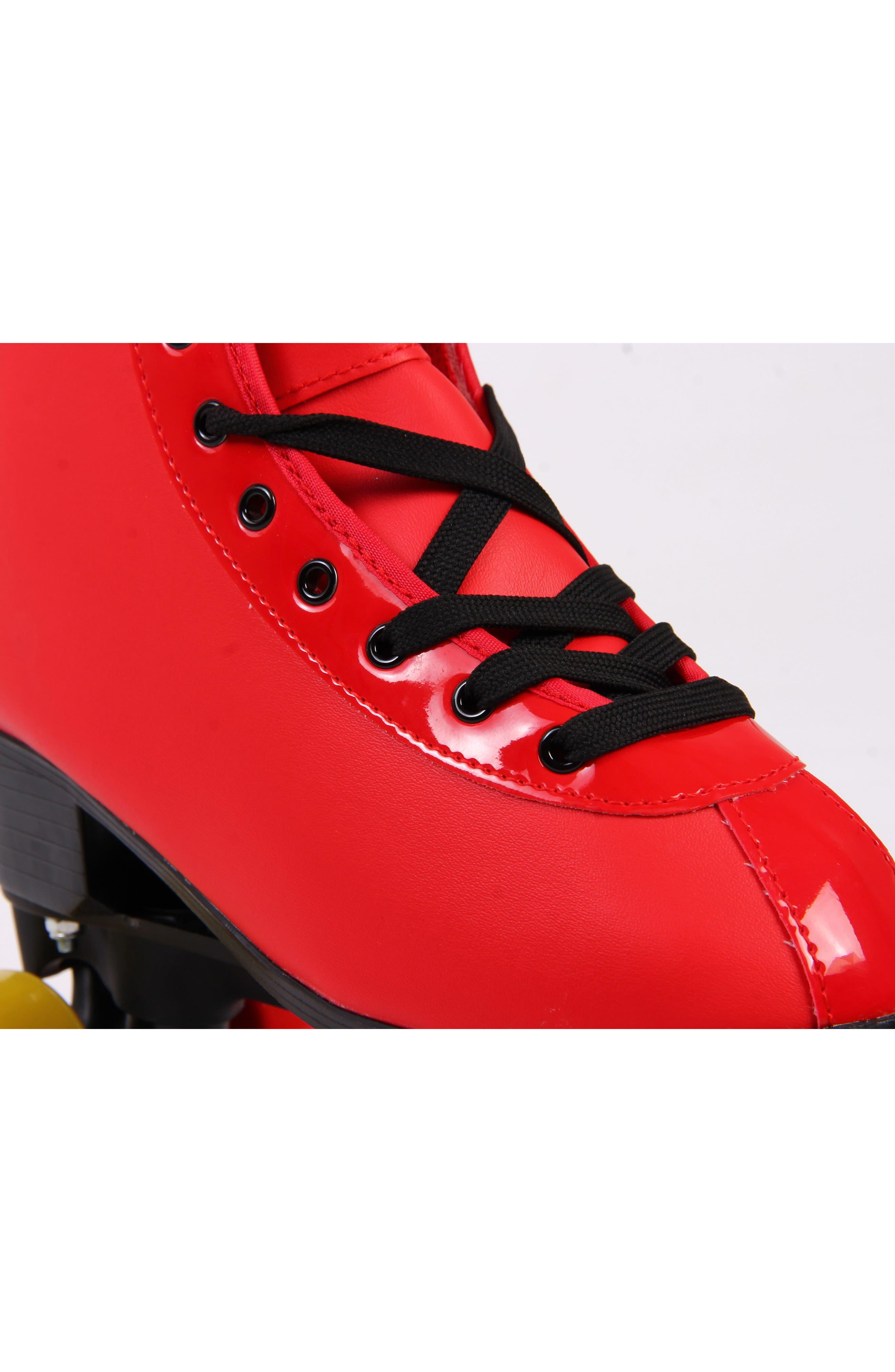 Classic Roller Skates,                             Alternate thumbnail 3, color,                             Ferrari Red