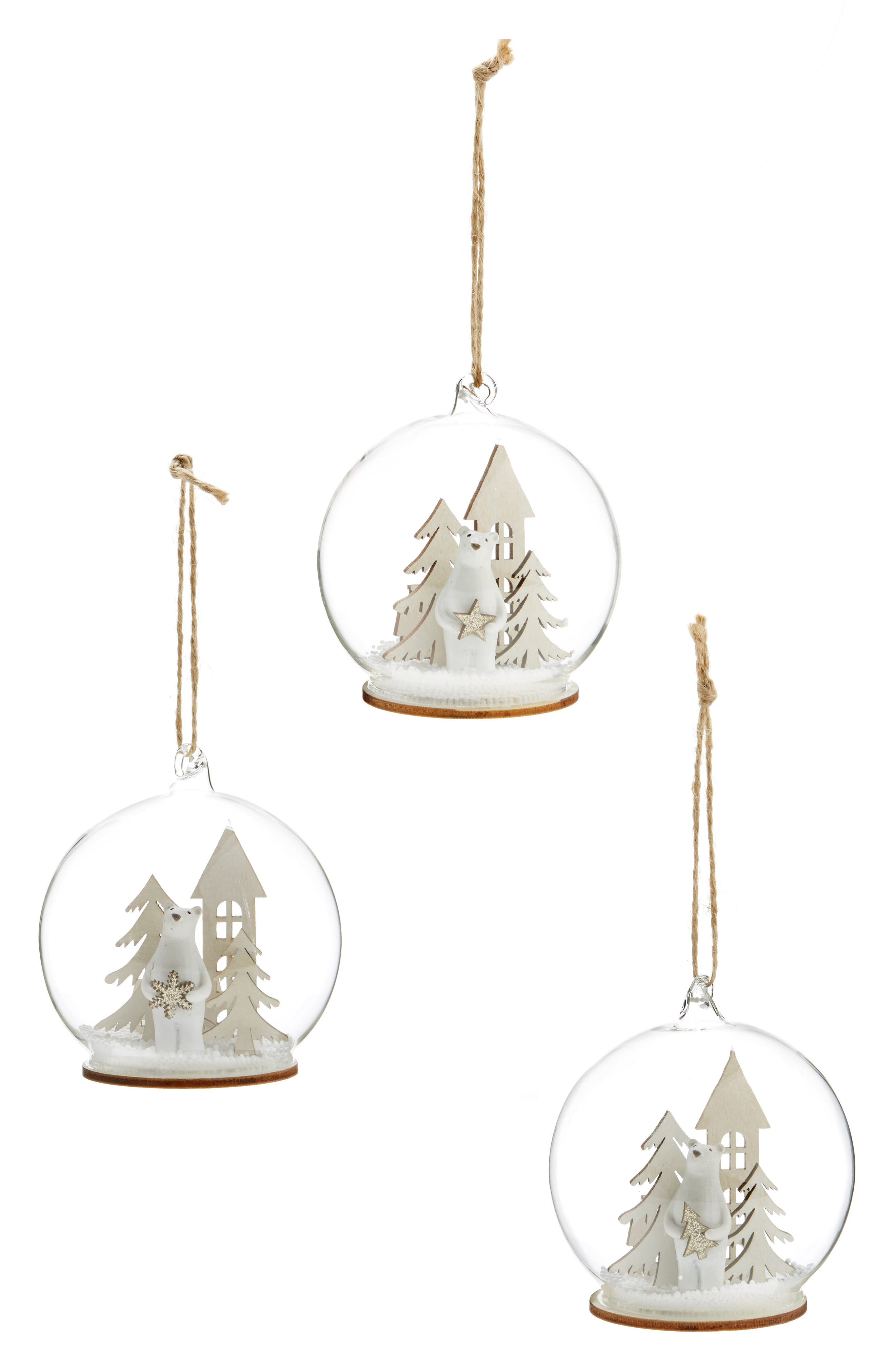 Arty Set of 3 Tree Ornaments