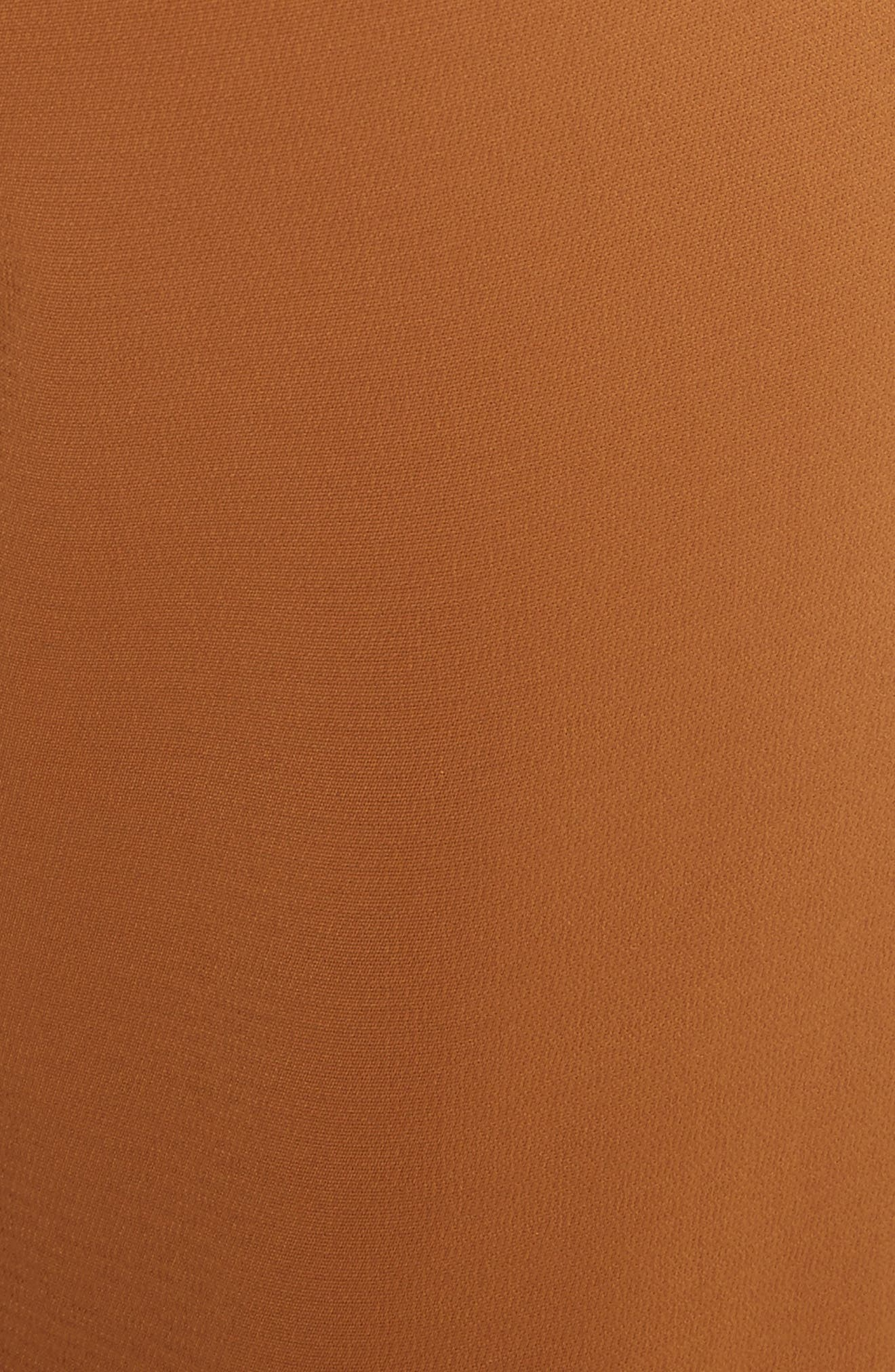 Foster Flare Leg Crepe Pants,                             Alternate thumbnail 6, color,                             Gold