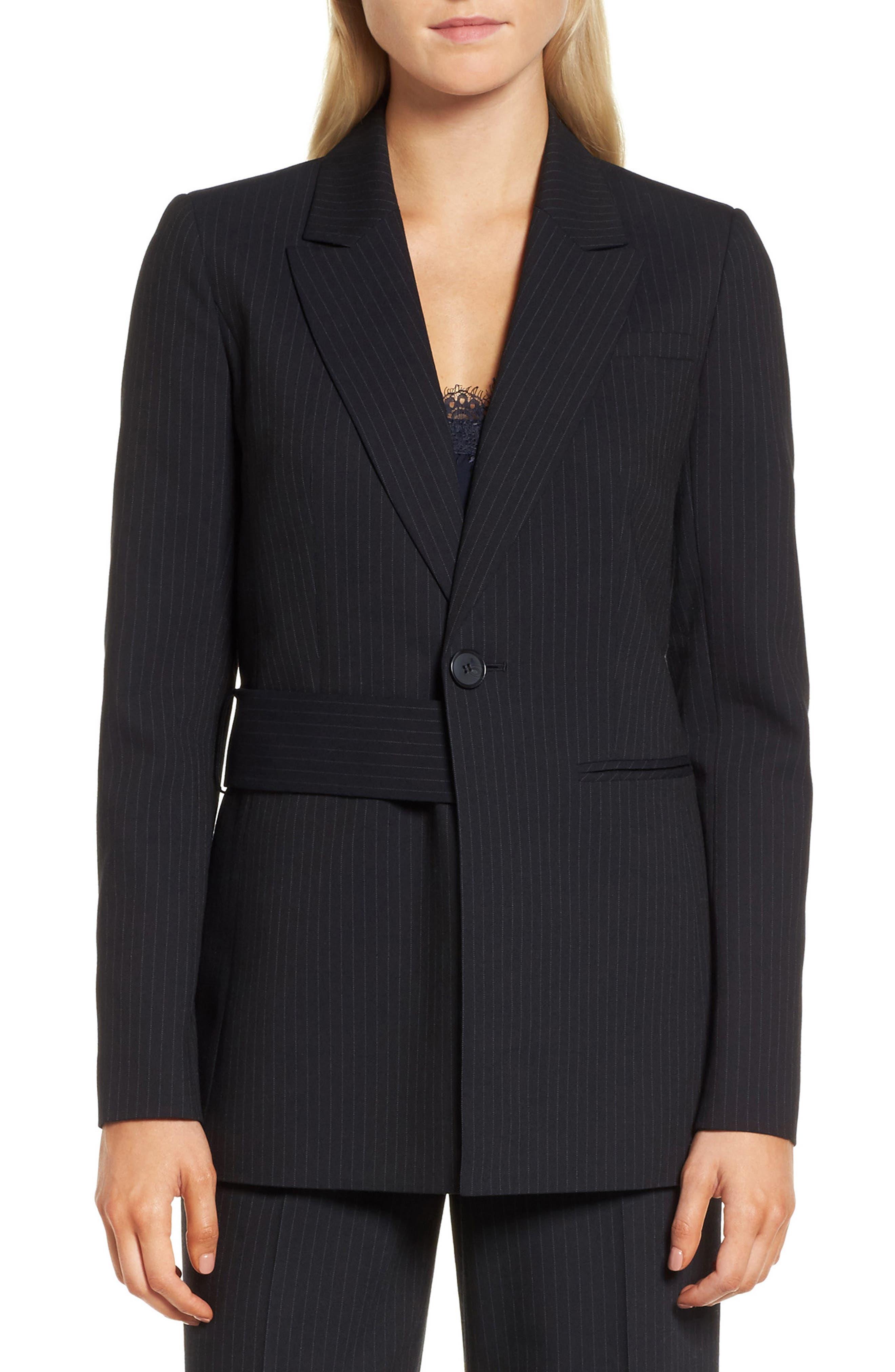 Pinstripe Suit Jacket,                             Main thumbnail 1, color,                             Navy Night Pinstripe