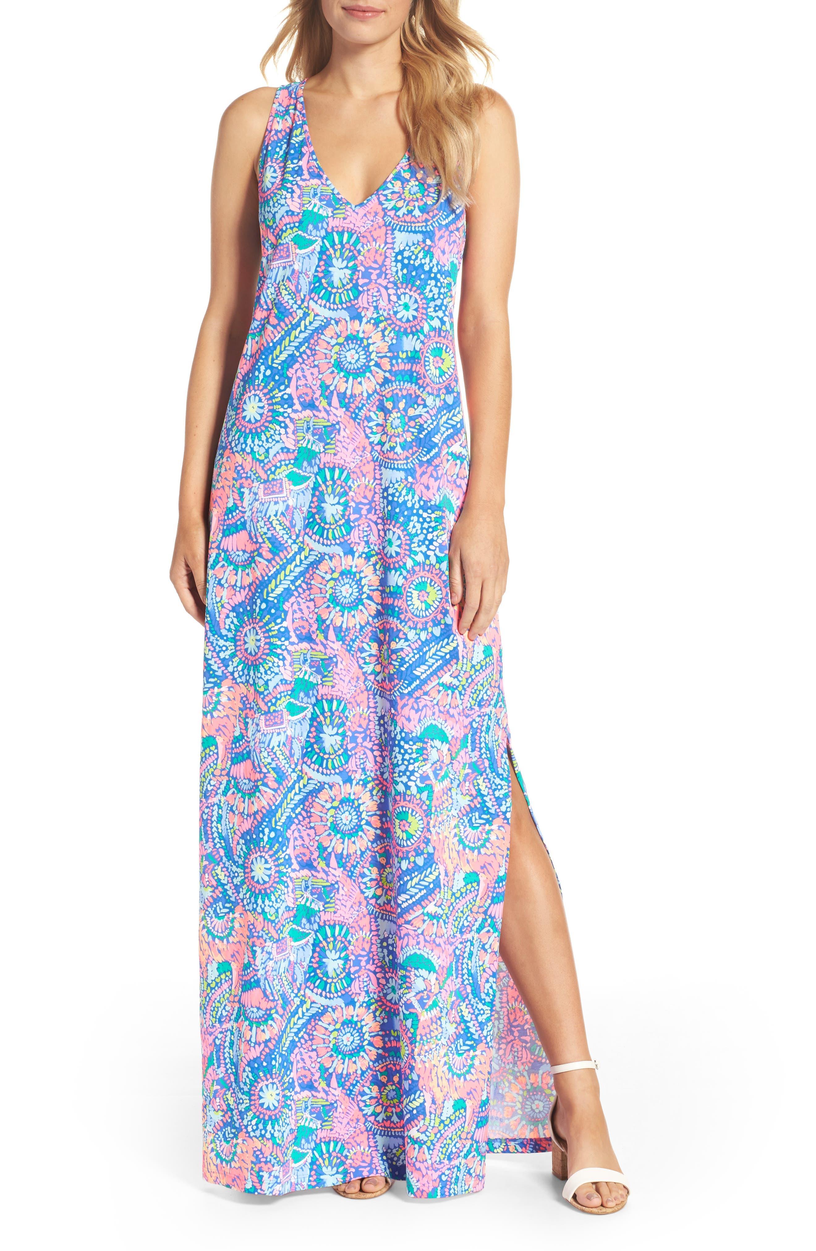 Kerri Maxi Dress,                         Main,                         color, Multi Llama