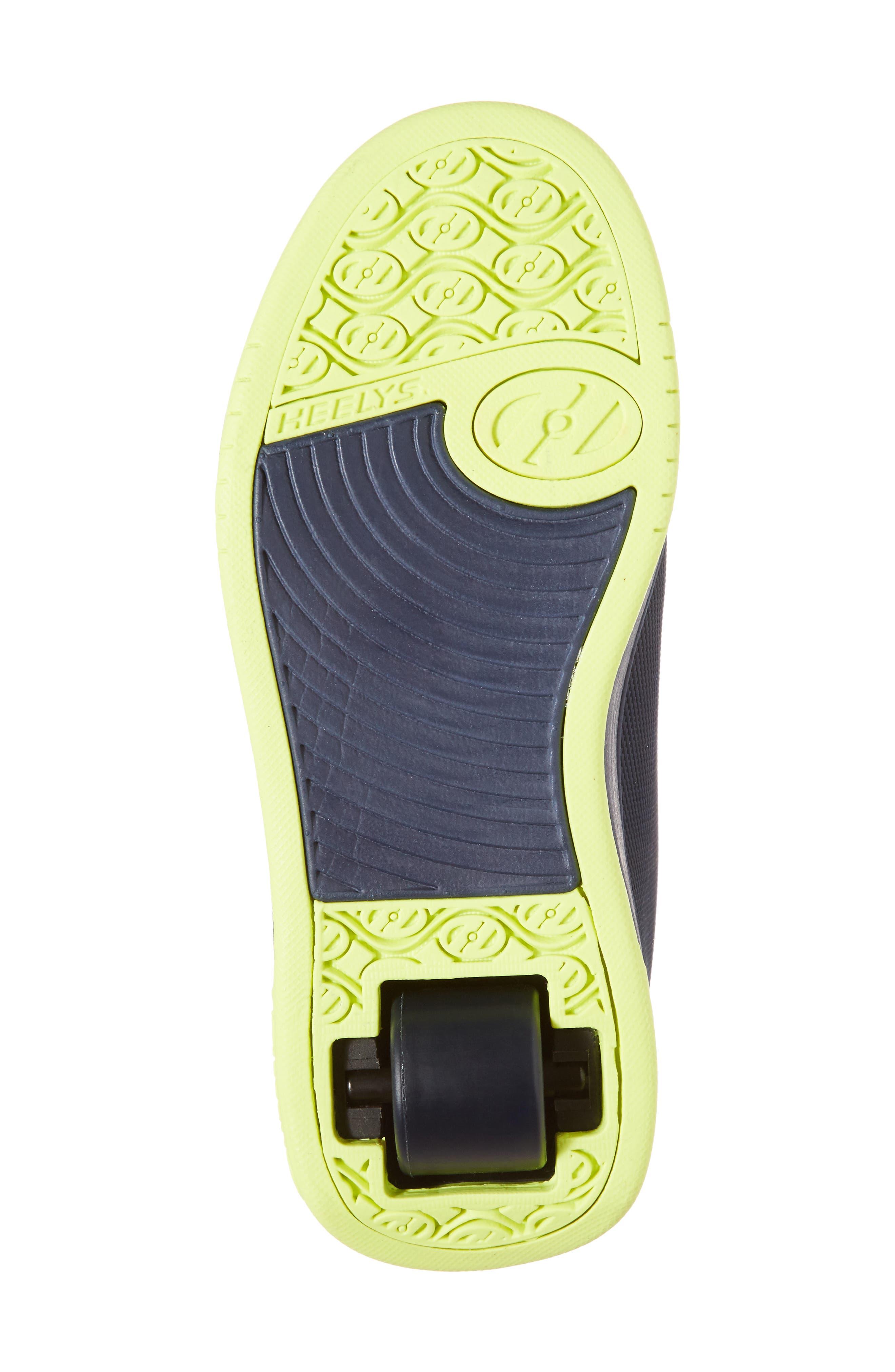 Split Logo Wheeled Skate Sneaker,                             Alternate thumbnail 6, color,                             Navy/ Bright Yellow