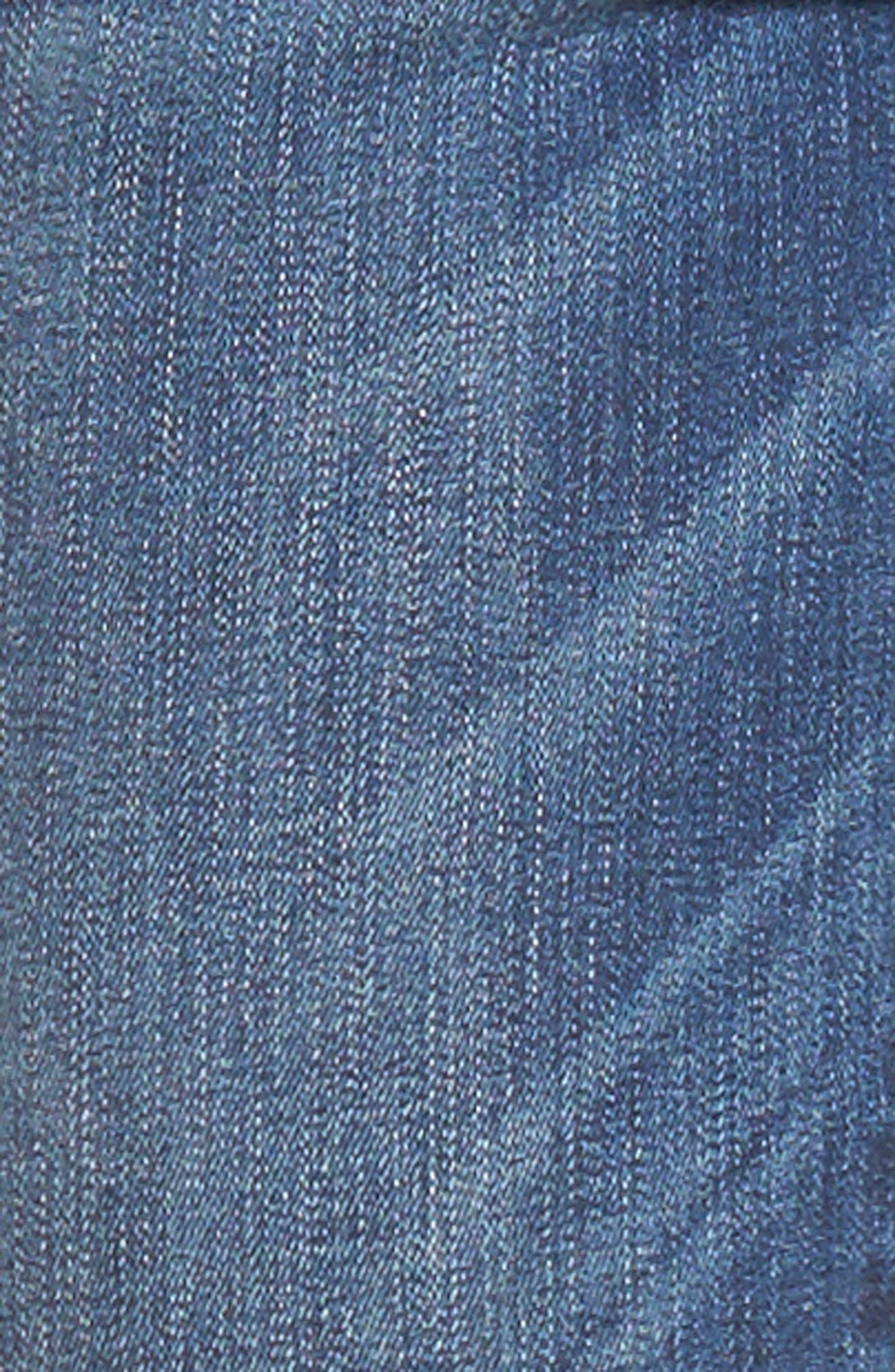 Florence Released Step Hem Skinny Jeans,                             Alternate thumbnail 6, color,                             Rosewood