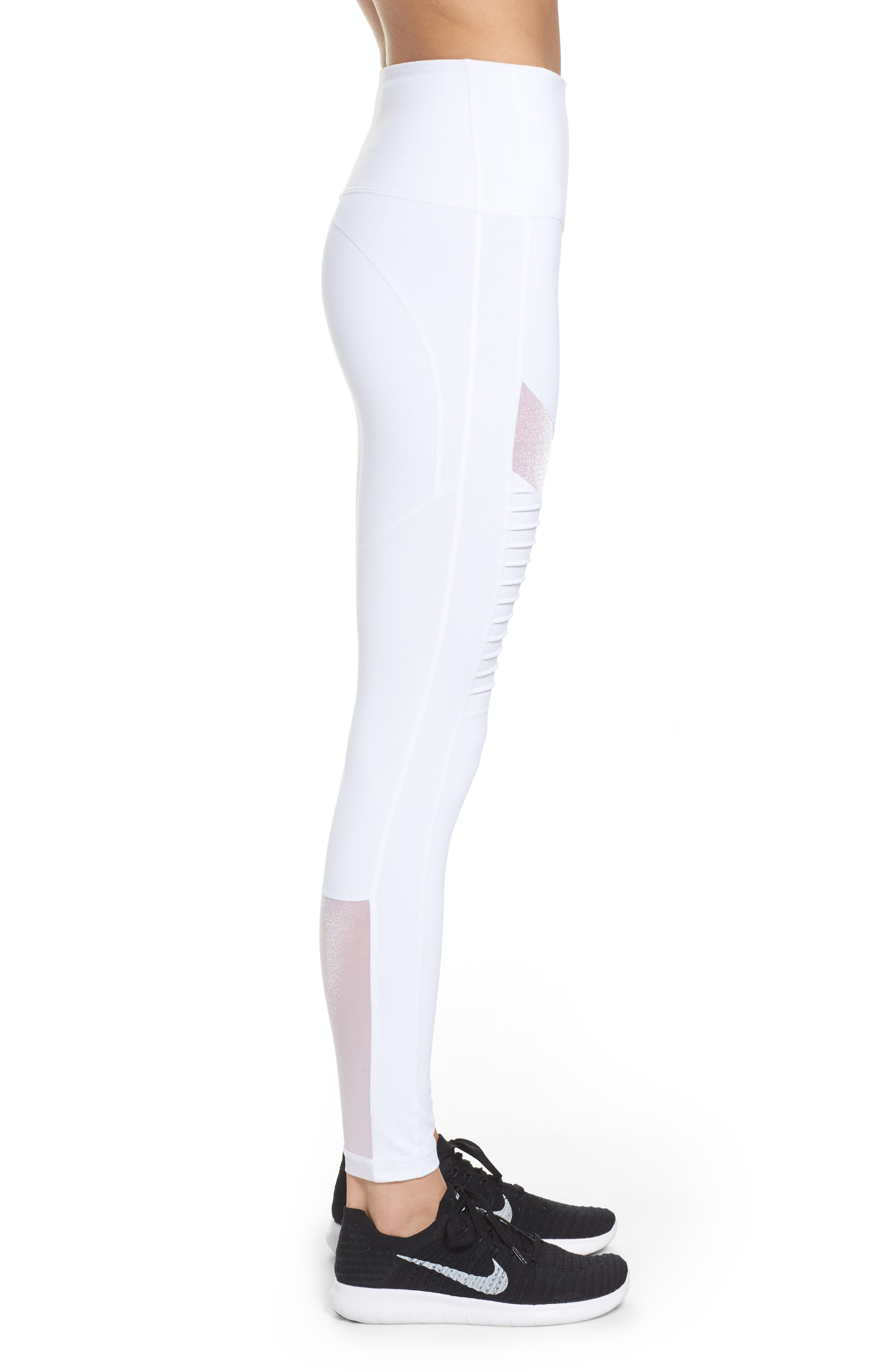 Alternate Image 3  - Zella Autumn High Waist Moto Ankle Leggings