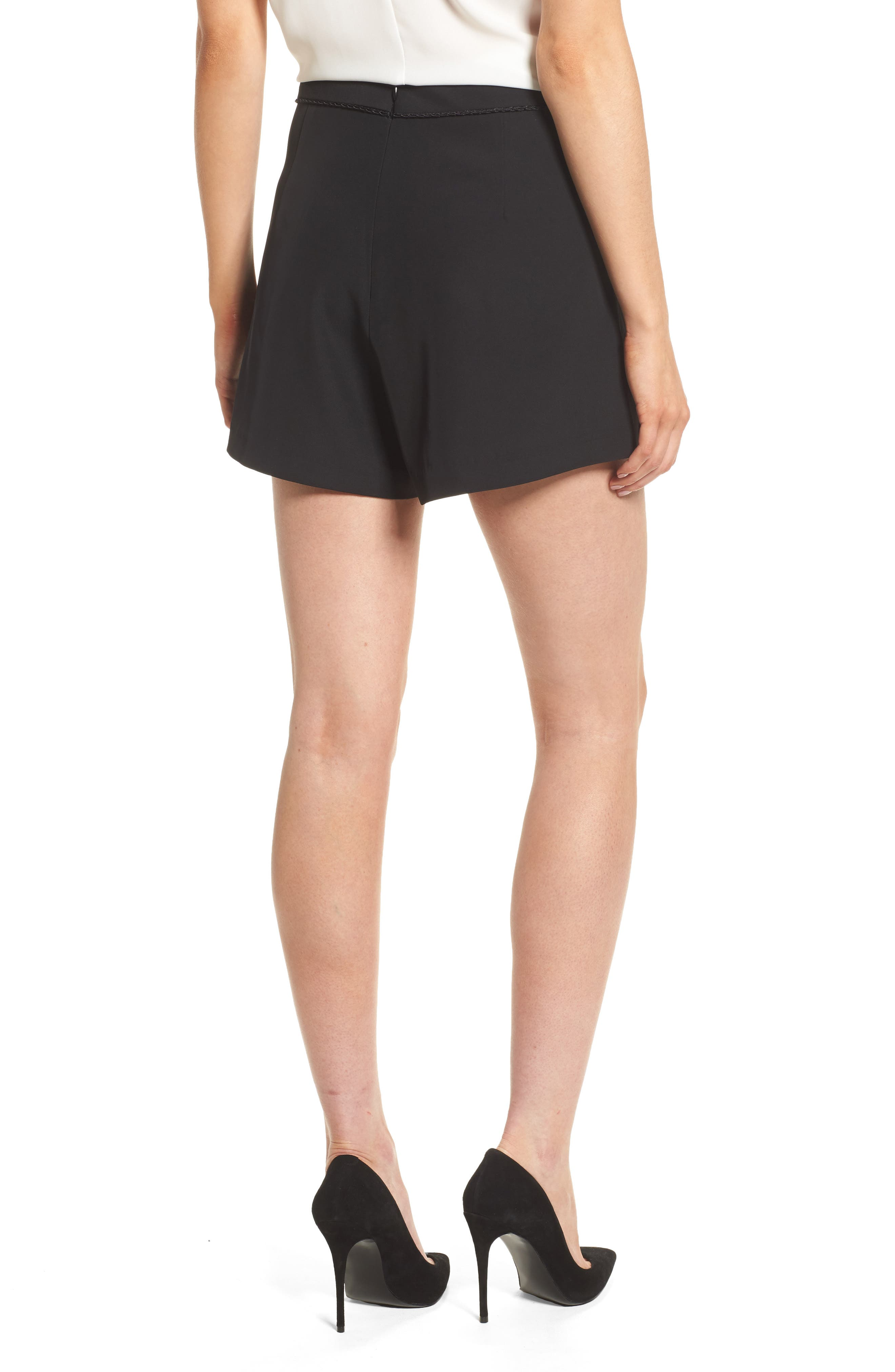 Ceremony High Waist Shorts,                             Alternate thumbnail 2, color,                             Black