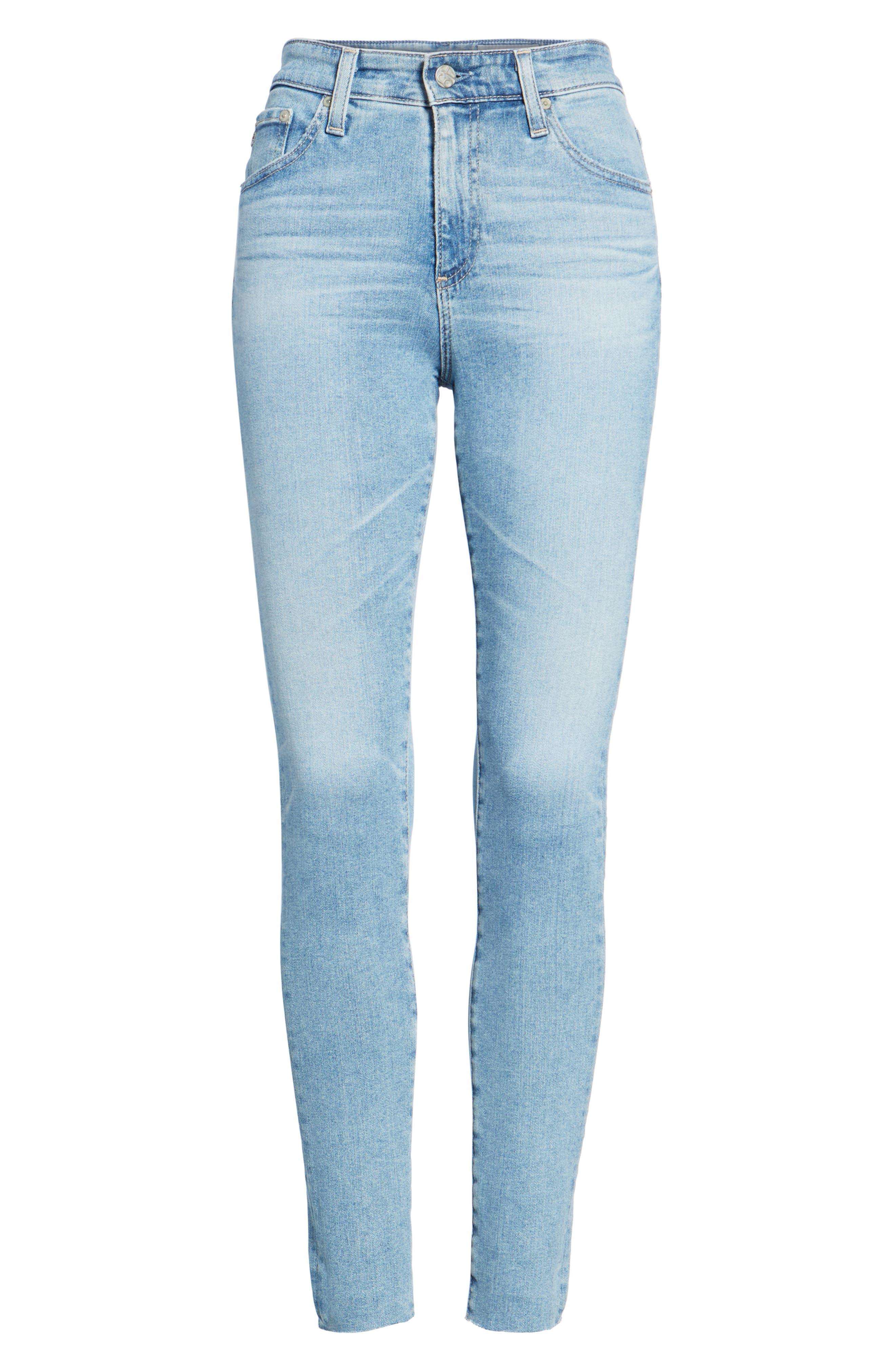The Farrah High Waist Ankle Skinny Jeans,                             Alternate thumbnail 7, color,                             18 Years Cruising