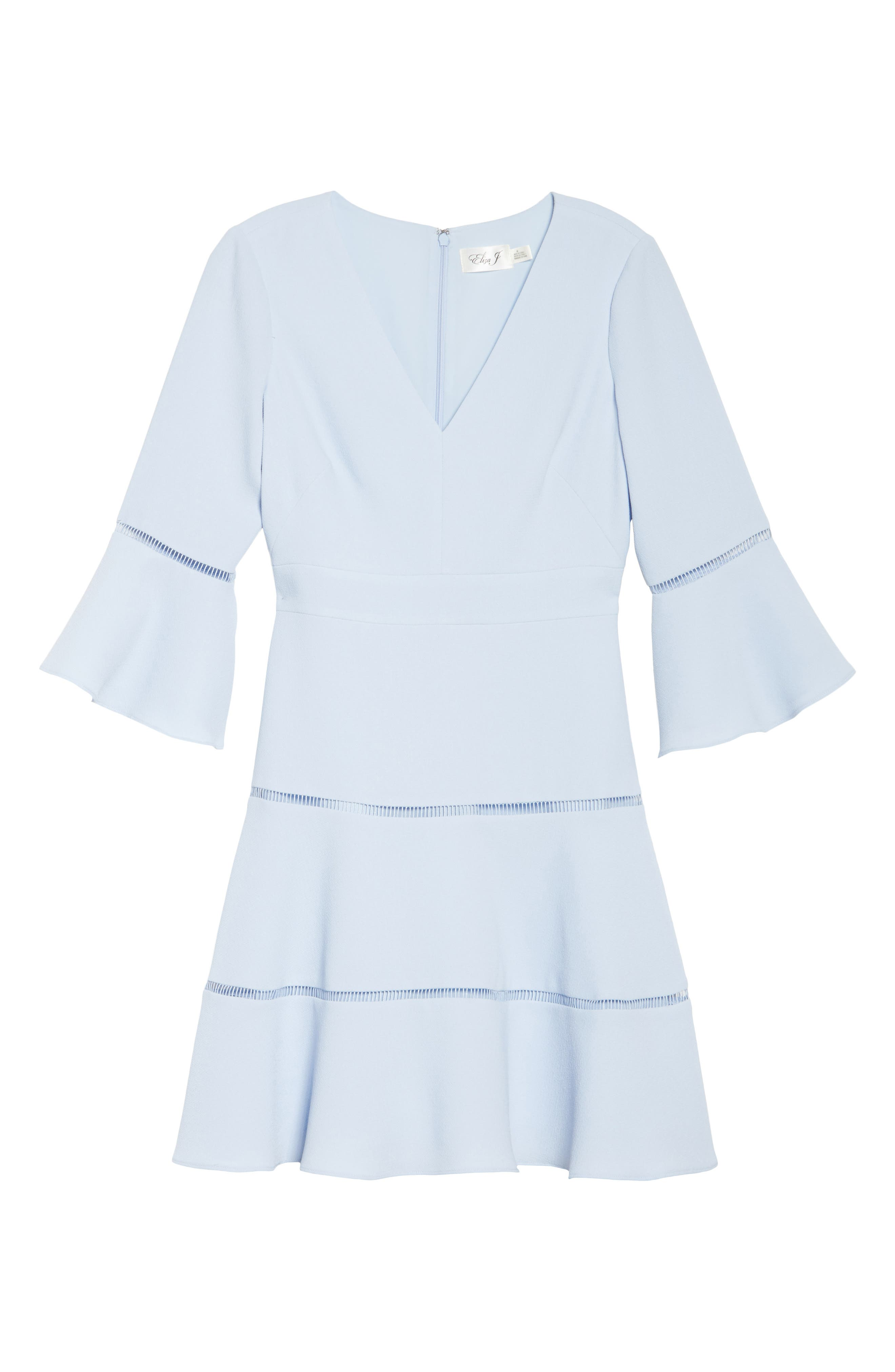 Alternate Image 6  - Eliza J Lace Inset Fit & Flare Dress (Regular & Petite)