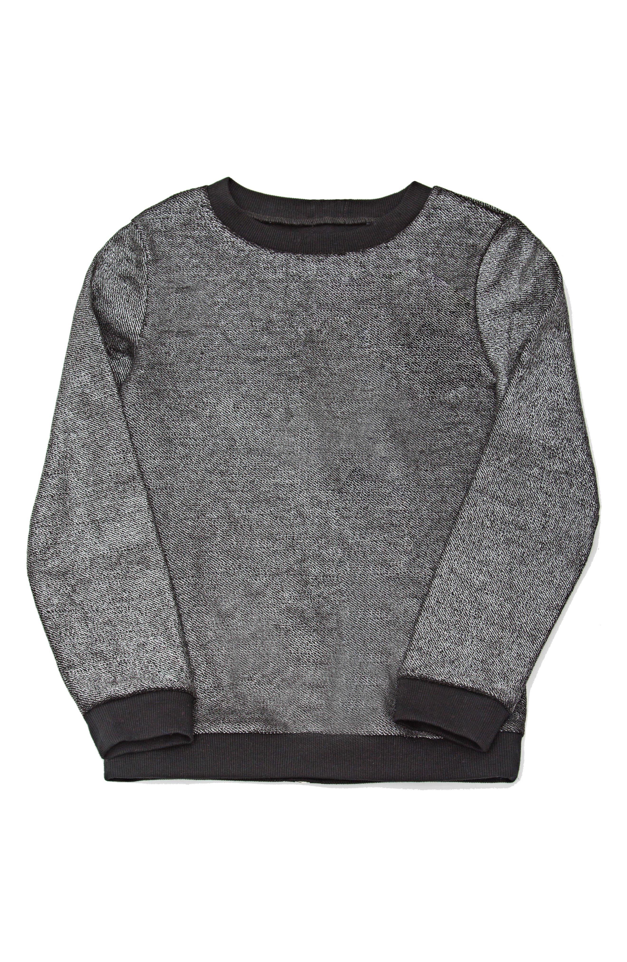 Mia New York Zip Back Sweatshirt (Big Girls)