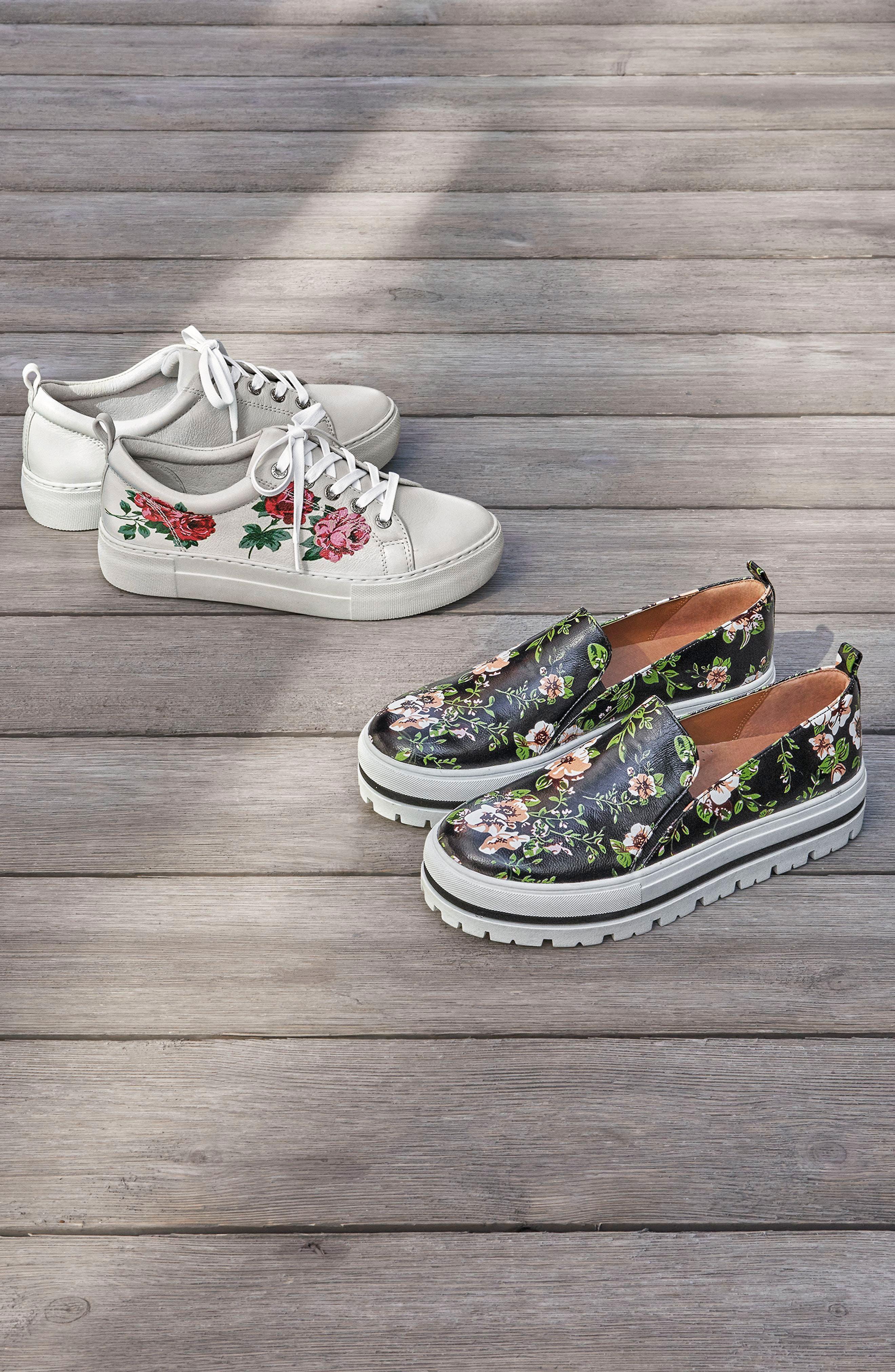 Adel Floral Sneaker,                             Alternate thumbnail 7, color,