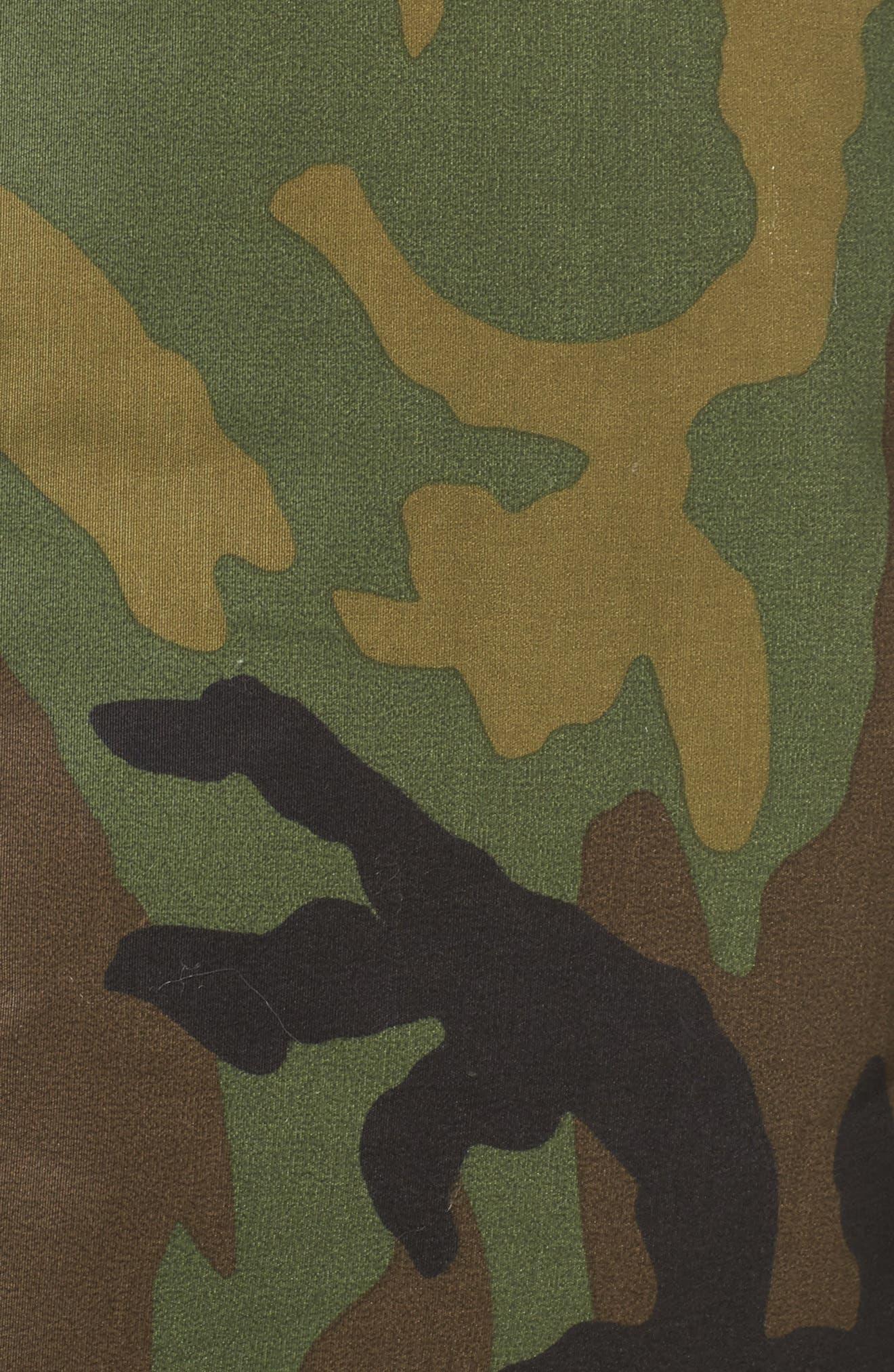 Reversible Puffer Jacket,                             Alternate thumbnail 7, color,                             Camo/ Orange