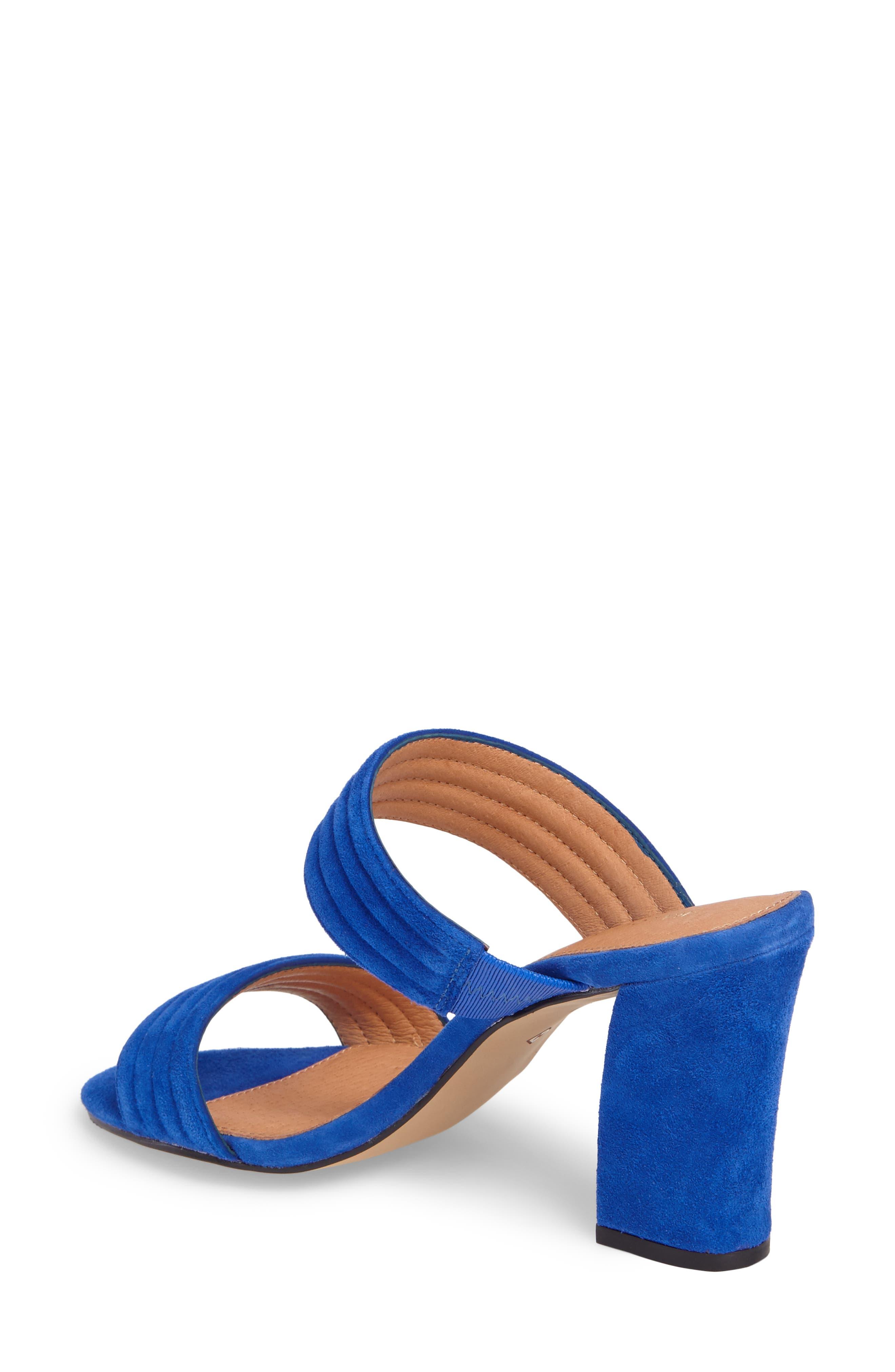 Della Slide Sandal,                             Alternate thumbnail 2, color,                             Cobalt Suede