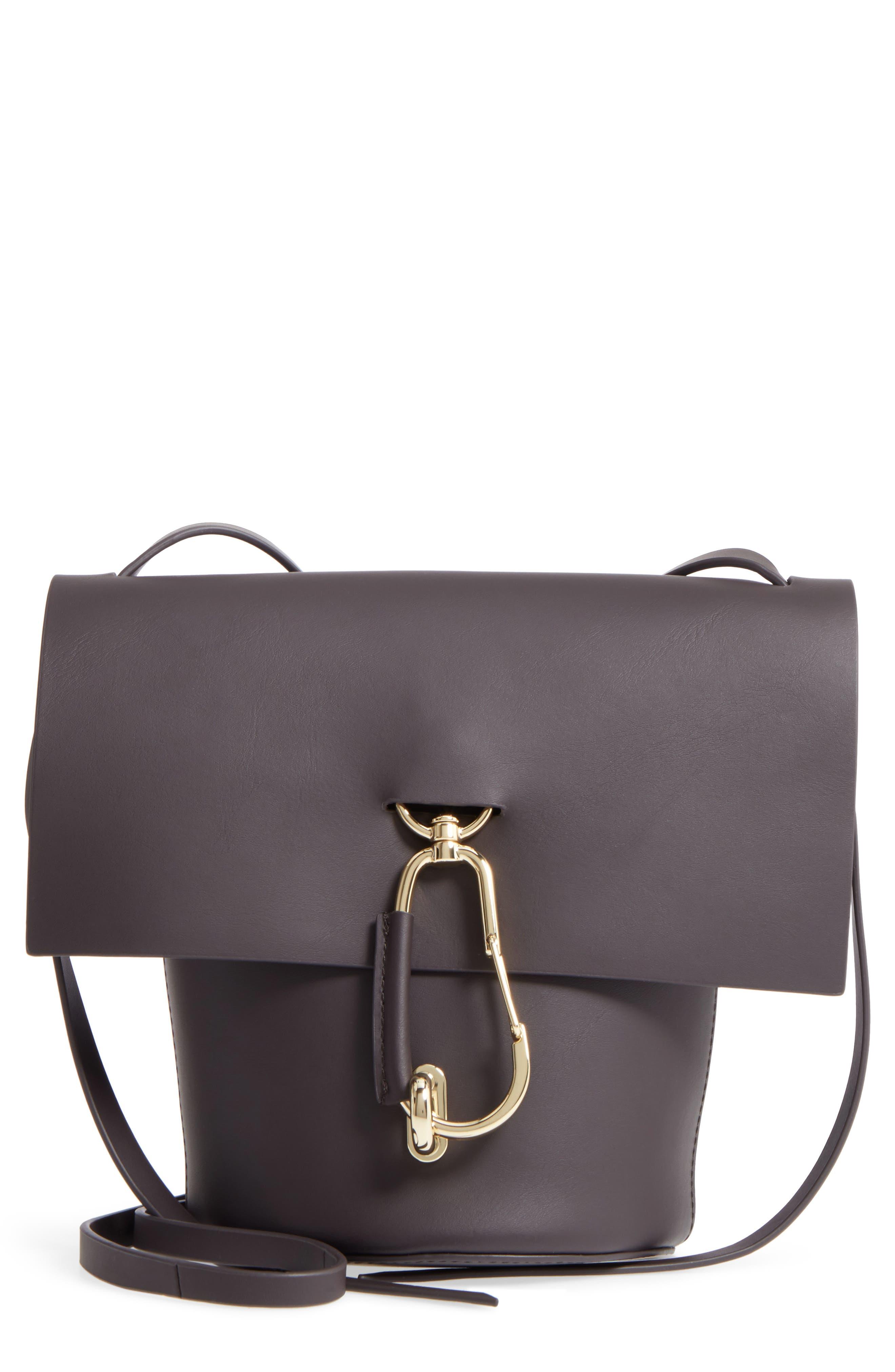 ZAC Zac Posen Belay Calfskin Leather Crossbody Bucket Bag
