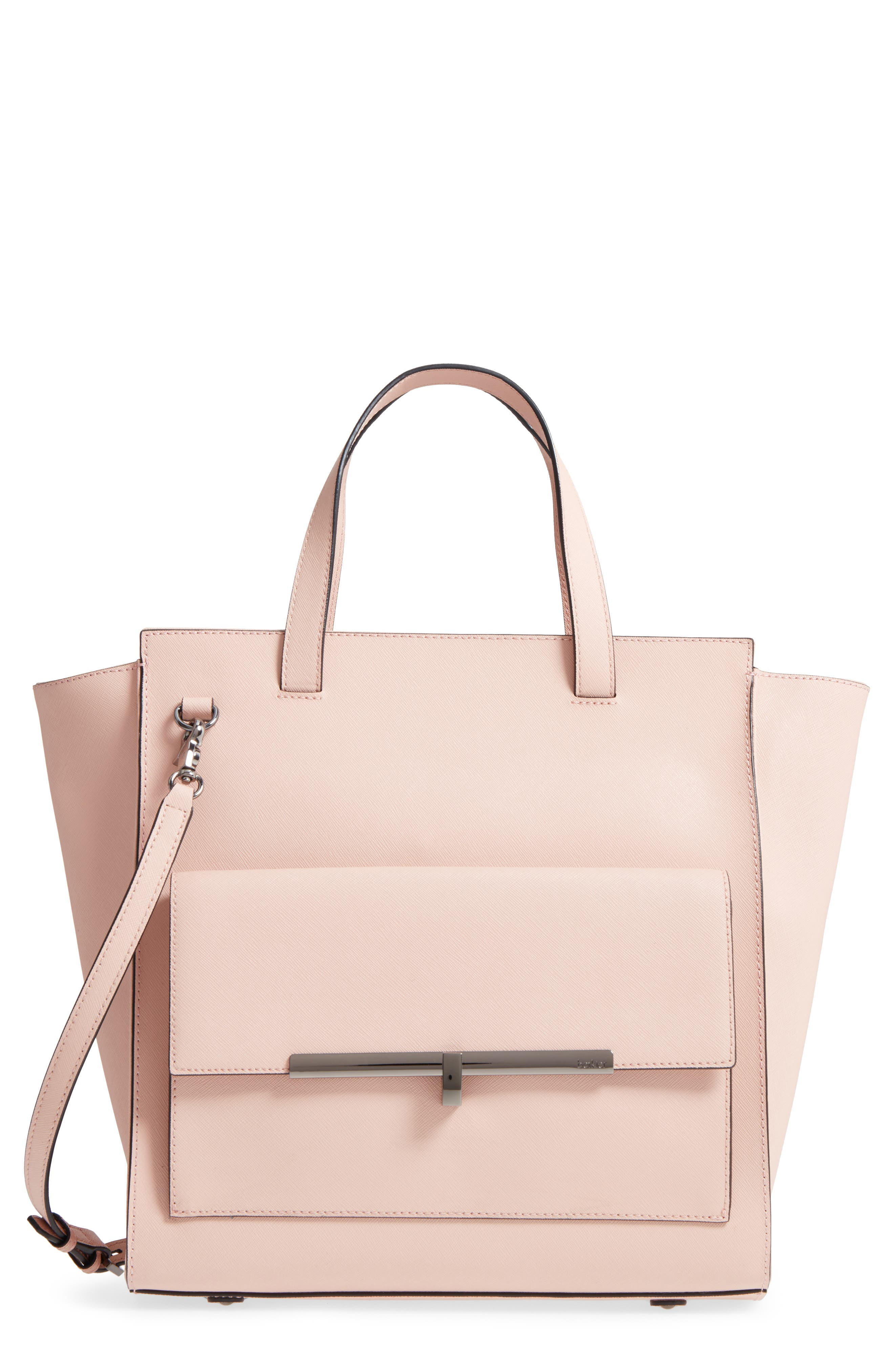 Jagger Leather Tote,                         Main,                         color, Blush