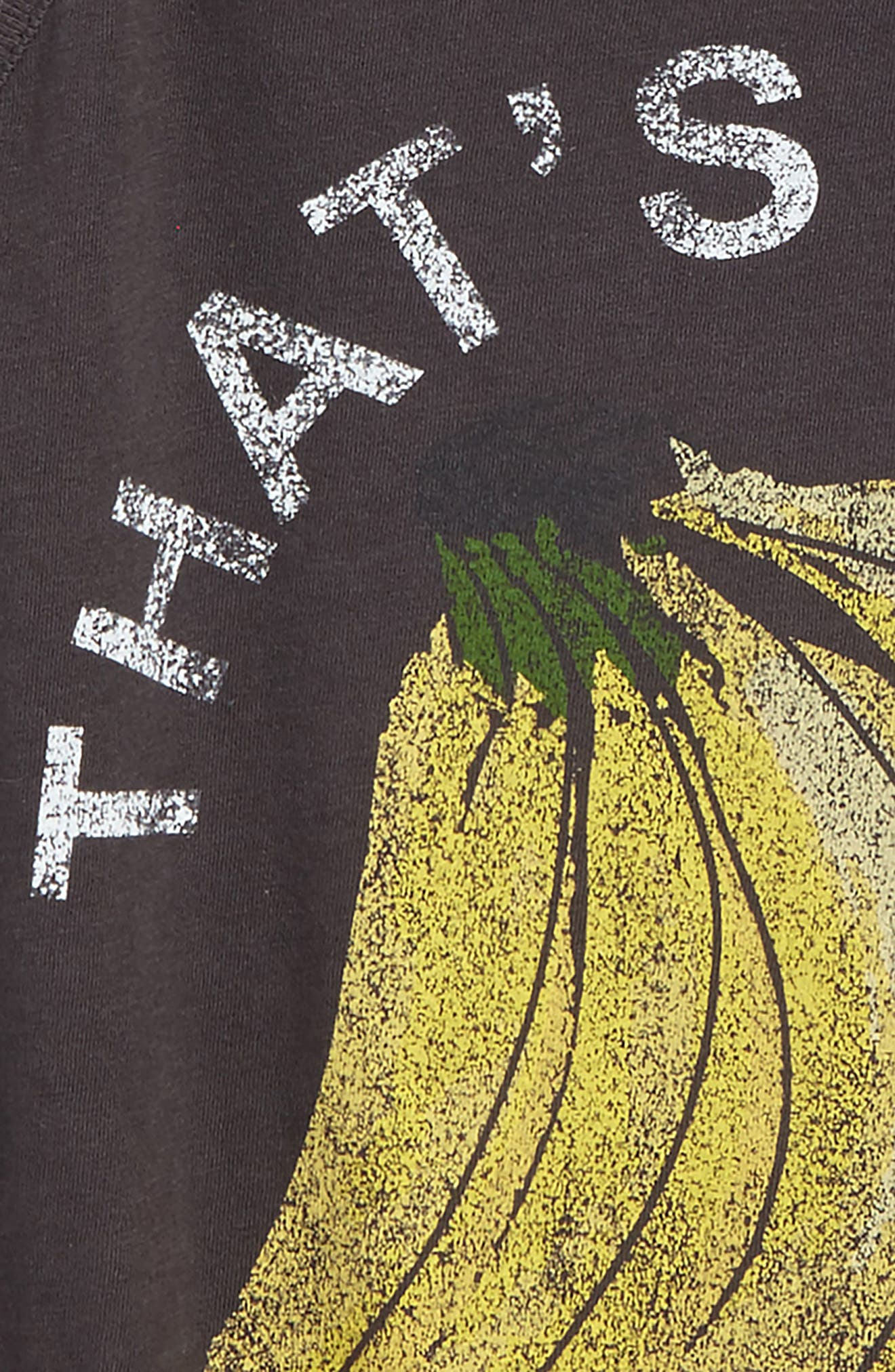 That's Bananas Graphic Tee,                             Alternate thumbnail 2, color,                             Washed Black - Fad