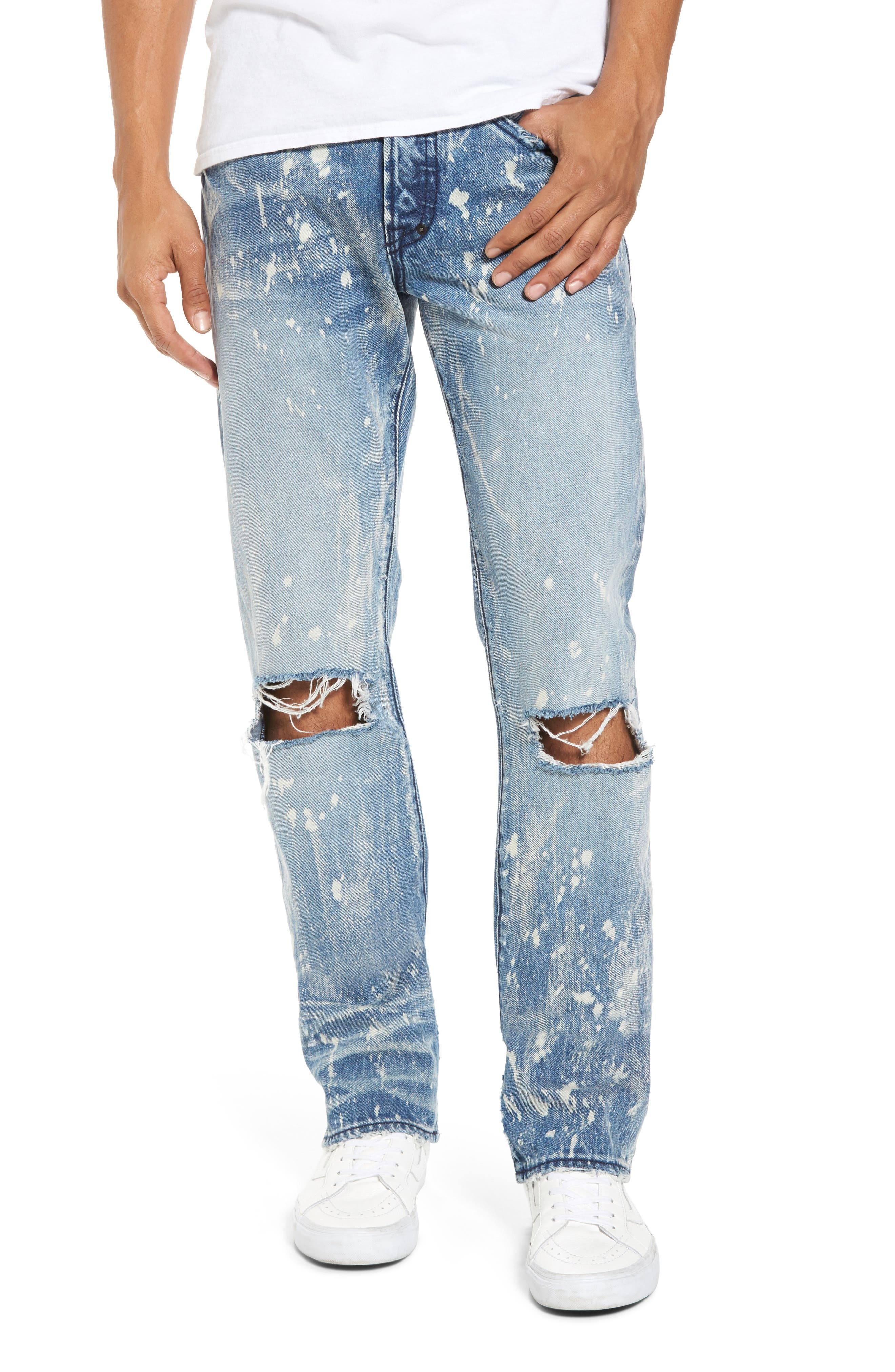 Demon Slim Straight Leg Jeans,                         Main,                         color, Indigoblue
